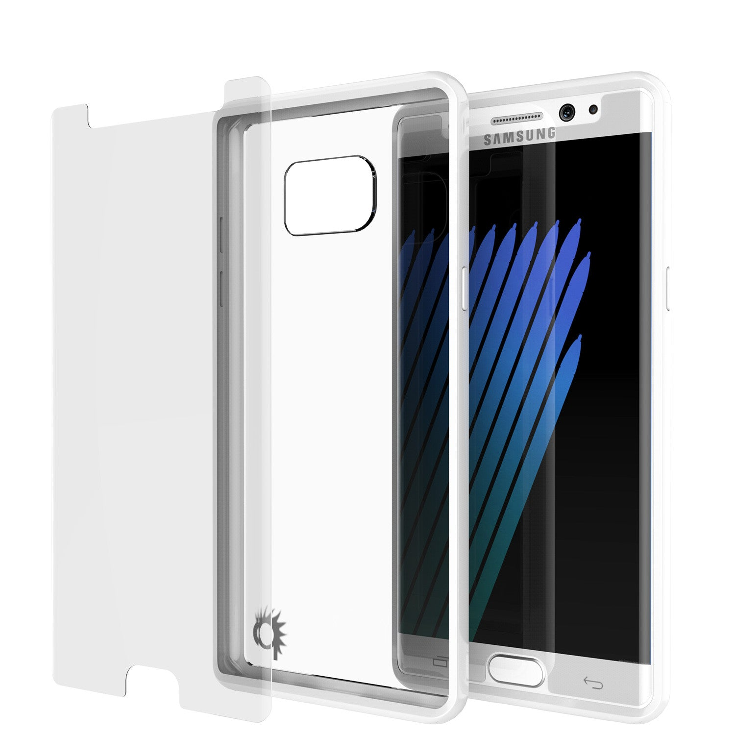 Note 7 Case Punkcase® LUCID 2.0 White Series w/ PUNK SHIELD Screen Protector | Ultra Fit