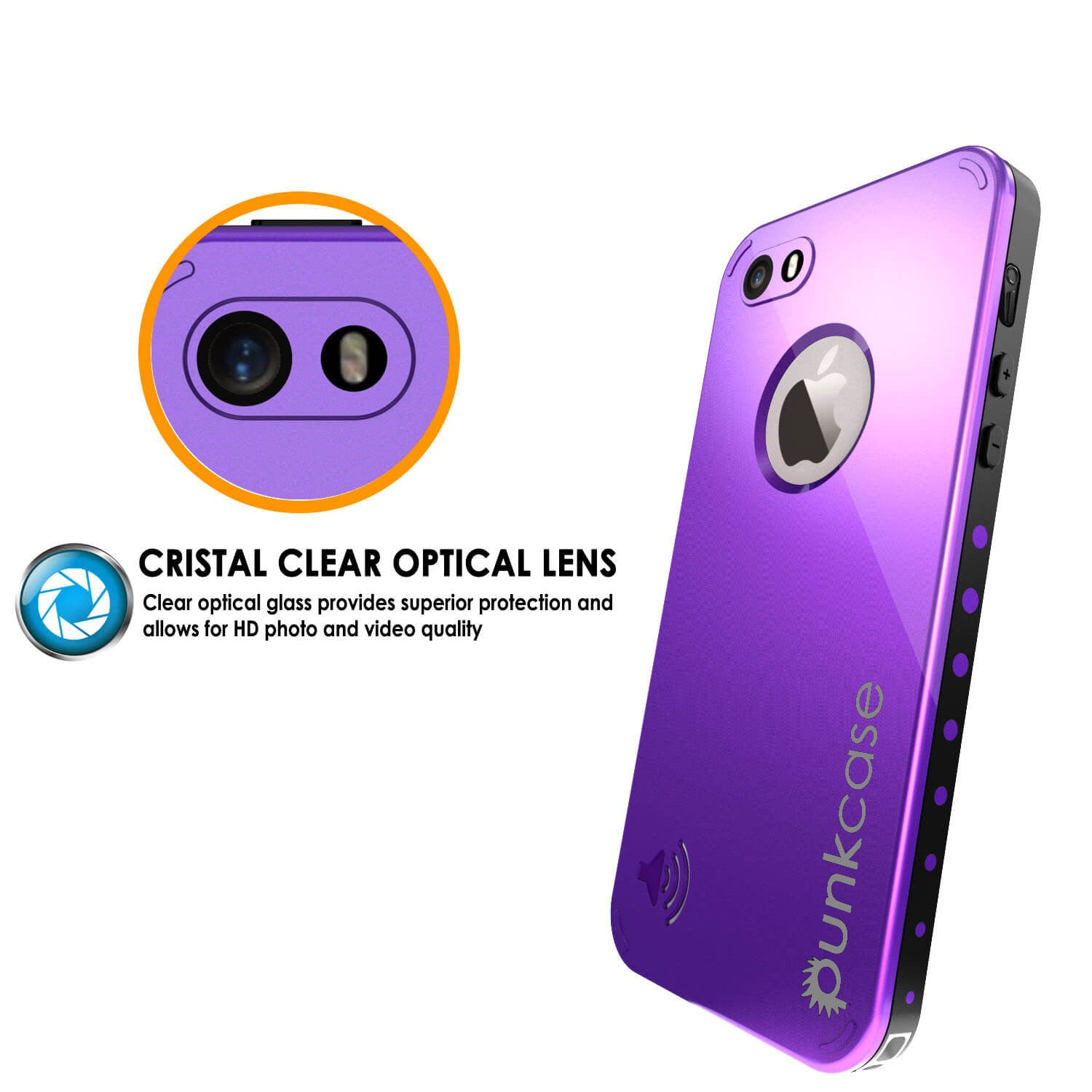 iPhone SE/5S/5 Waterproof Case PunkCase StudStar Purple Shock/Dirt/Snow Proof | Lifetime Warranty