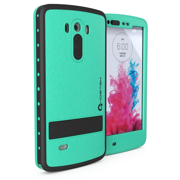 Lg G3 Waterproof Case Ghostek Atomic Teal Attached