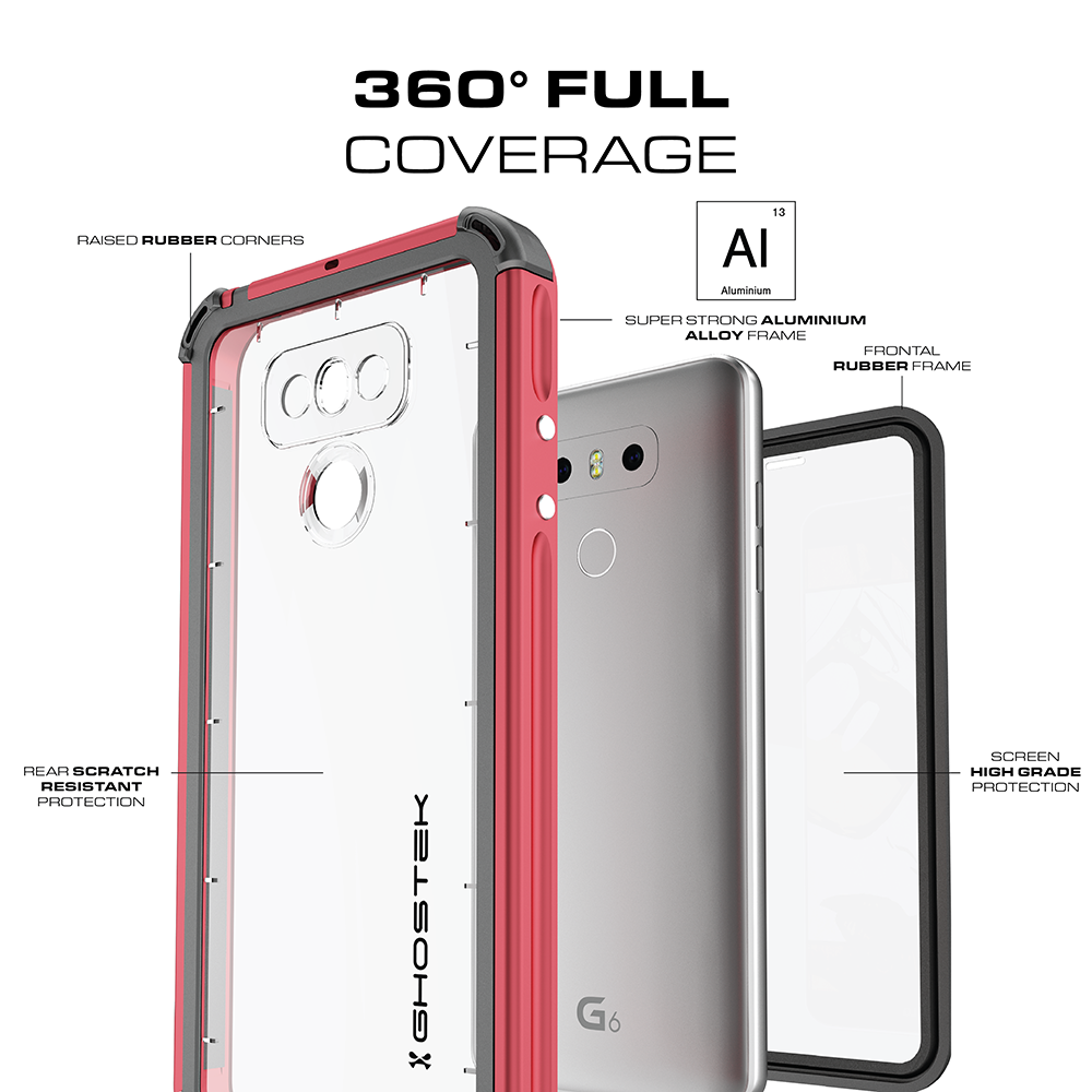 LG G6 WATERPROOF CASE | ATOMIC 3 SERIES | RED