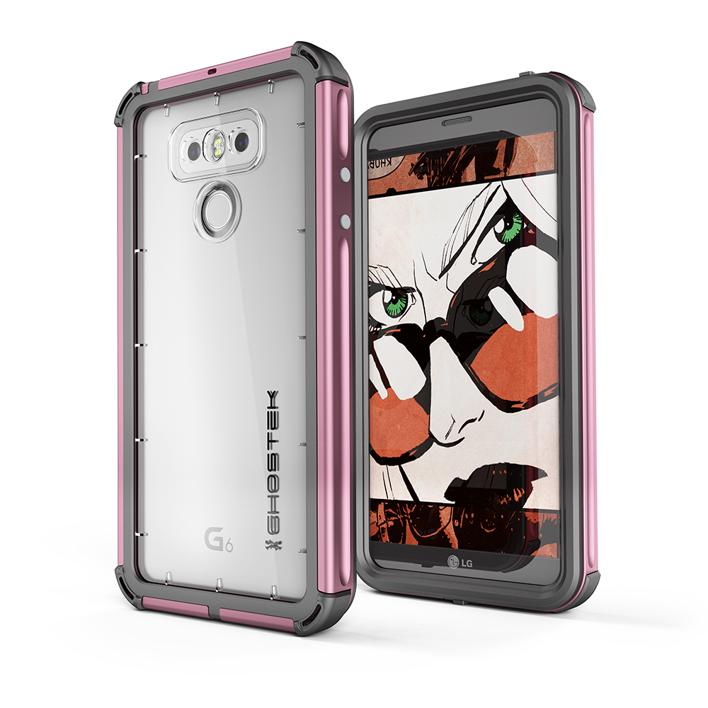 LG G6 WATERPROOF CASE | ATOMIC 3 SERIES | PINK