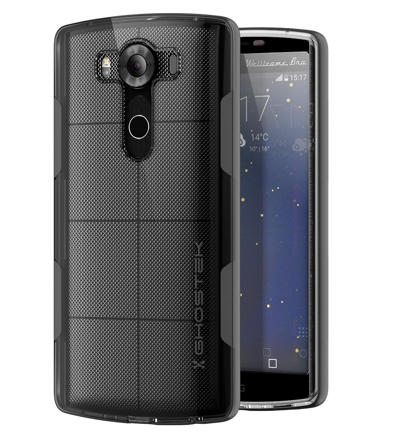 LG V10 Case, Ghostek® Cloak Black Slim Hybrid Impact Armor Cover | Lifetime Warranty Exchange