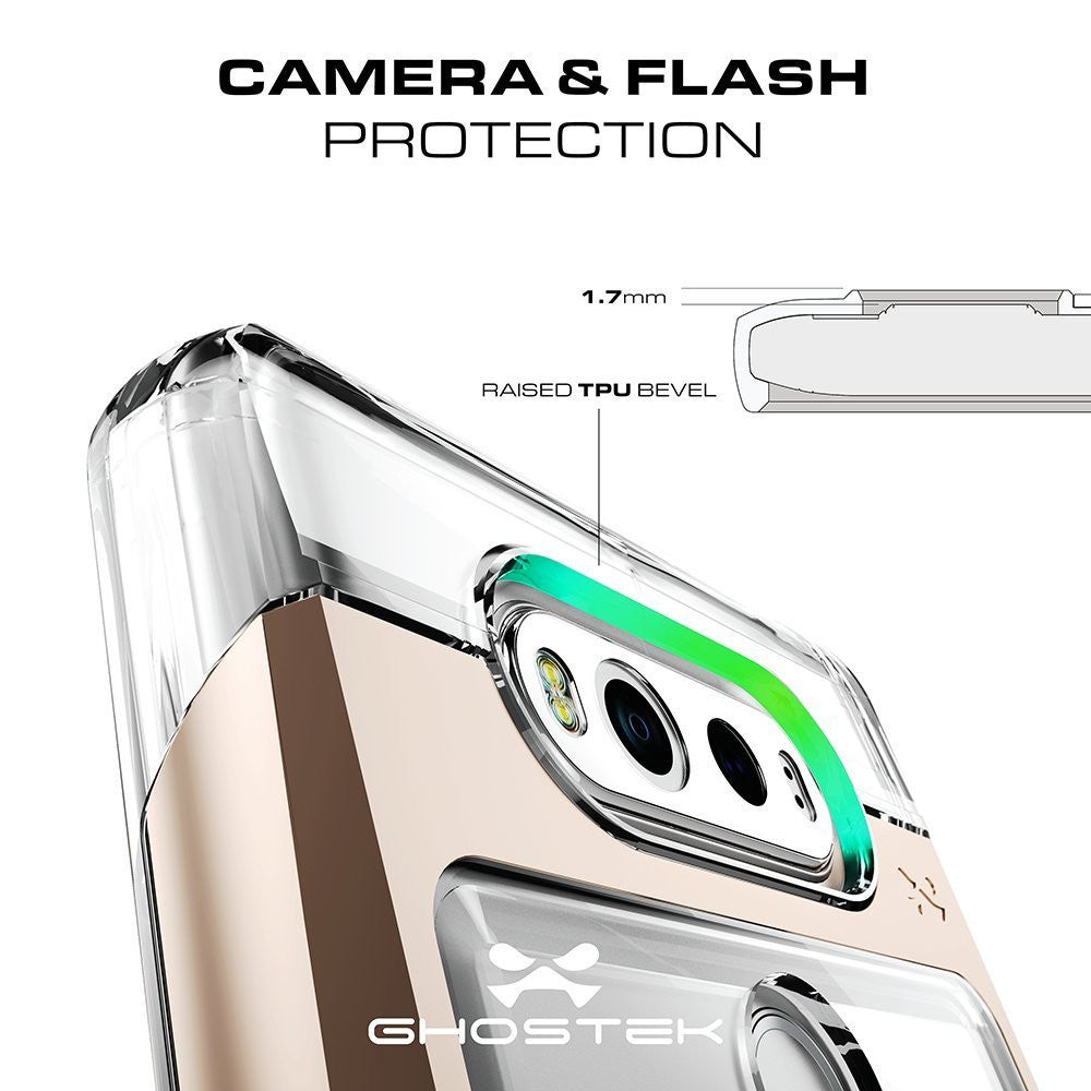 LG v20 Case, Ghostek® Cloak 2.0 Gold w/ Explosion-Proof Screen Protector | Aluminum Frame