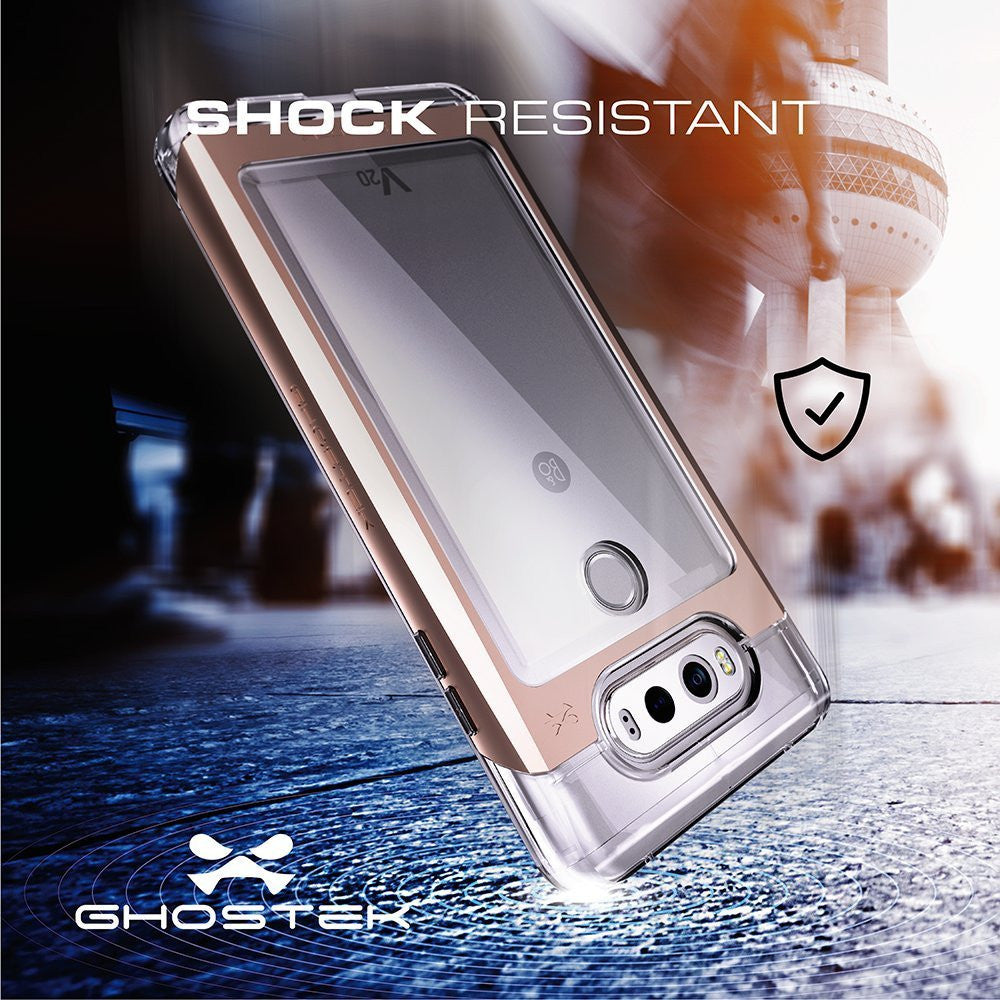 LG v20 Case, Ghostek® 2.0 Red Series w/ Explosion-Proof Screen Protector | Aluminum Frame