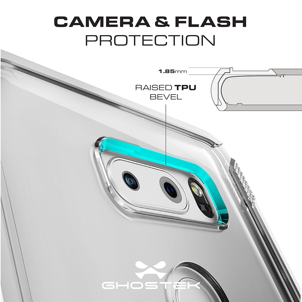 LG V30 Case, Ghostek Cloak 3 LG V30 Clear Transparent Bumper Case V30  | SILVER