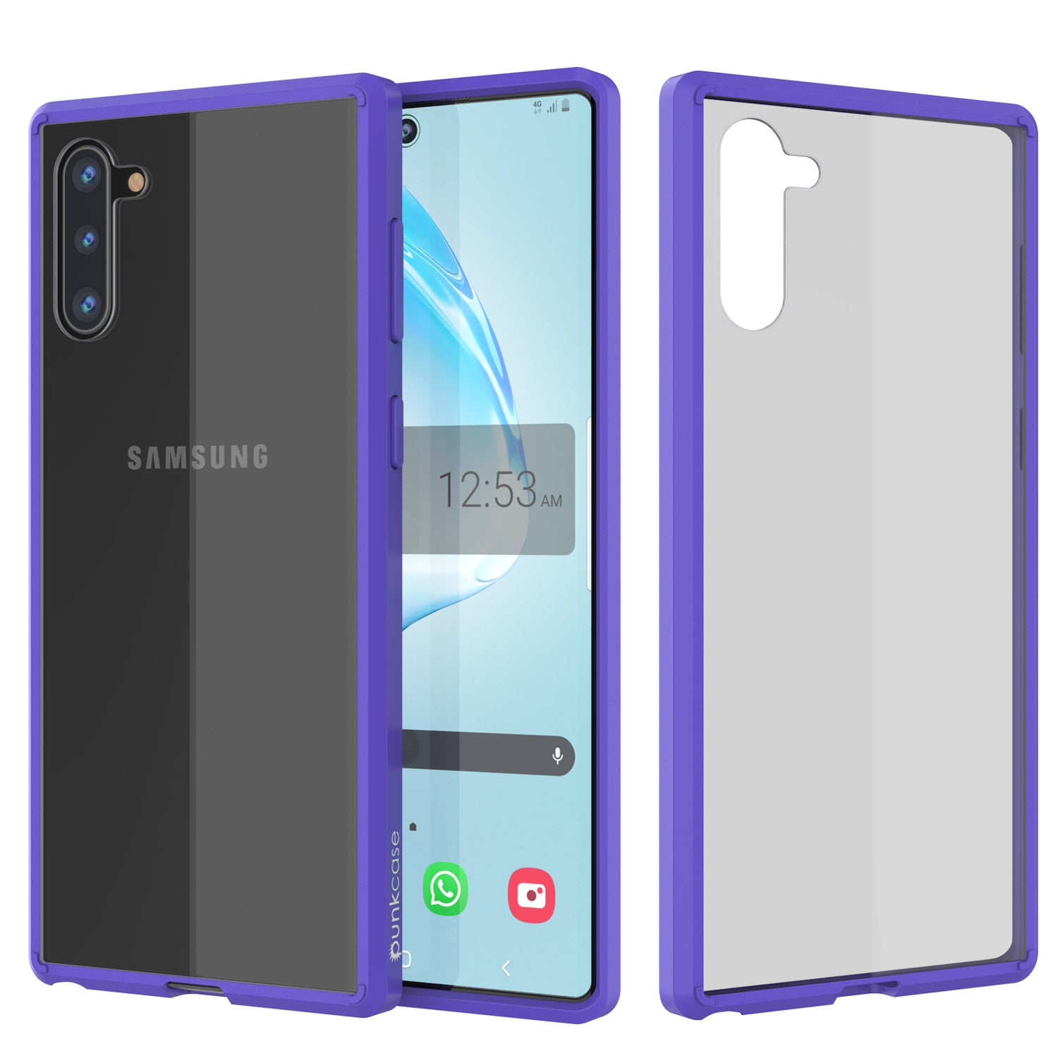 Galaxy Note 10 Punkcase Lucid-2.0 Series Slim Fit Armor Purple Case Cover