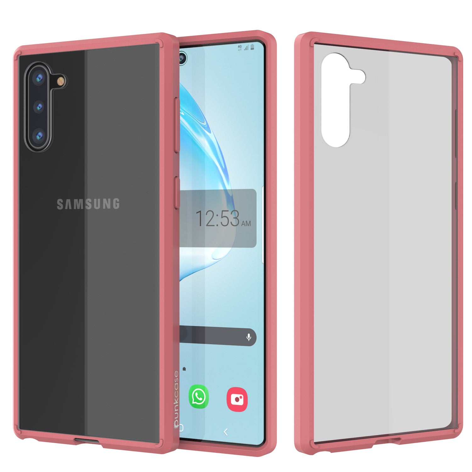 Galaxy Note 10 Punkcase Lucid-2.0 Series Slim Fit Armor Pink Case Cover