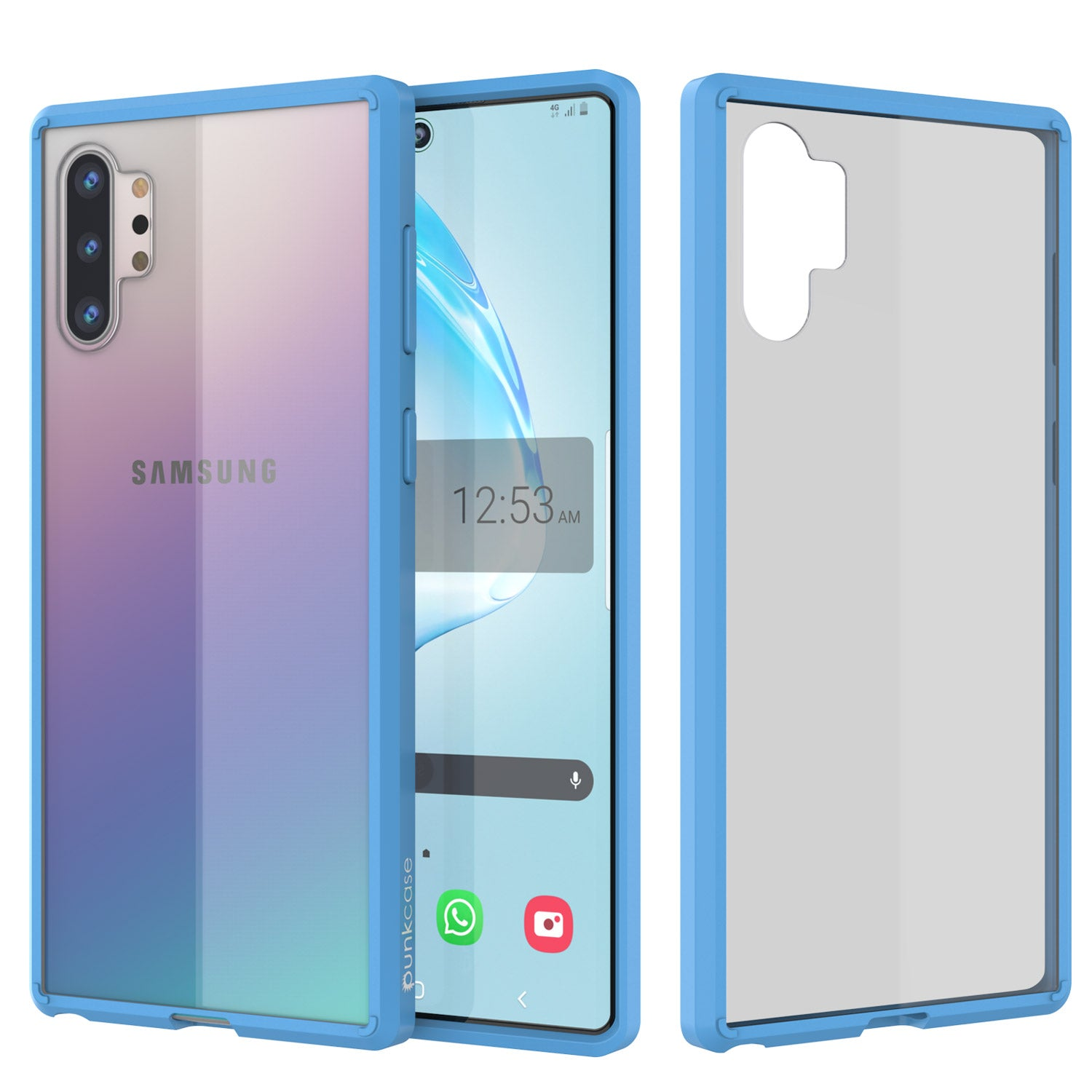 Galaxy Note 10+ Plus Punkcase Lucid-2.0 Series Slim Fit Armor Light Blue Case Cover