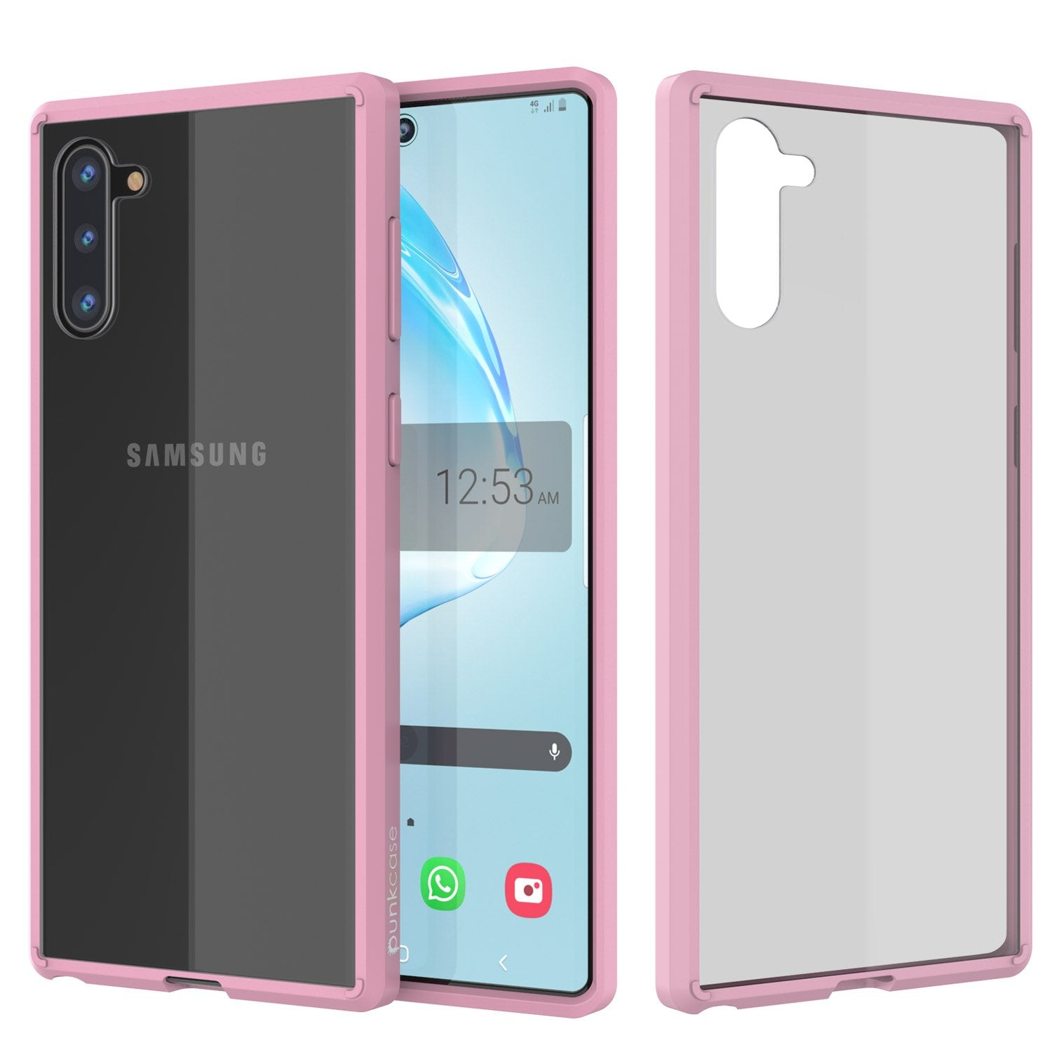 Galaxy Note 20 Punkcase Lucid-2.0 Series Slim Fit Armor Crystal Pink Case Cover