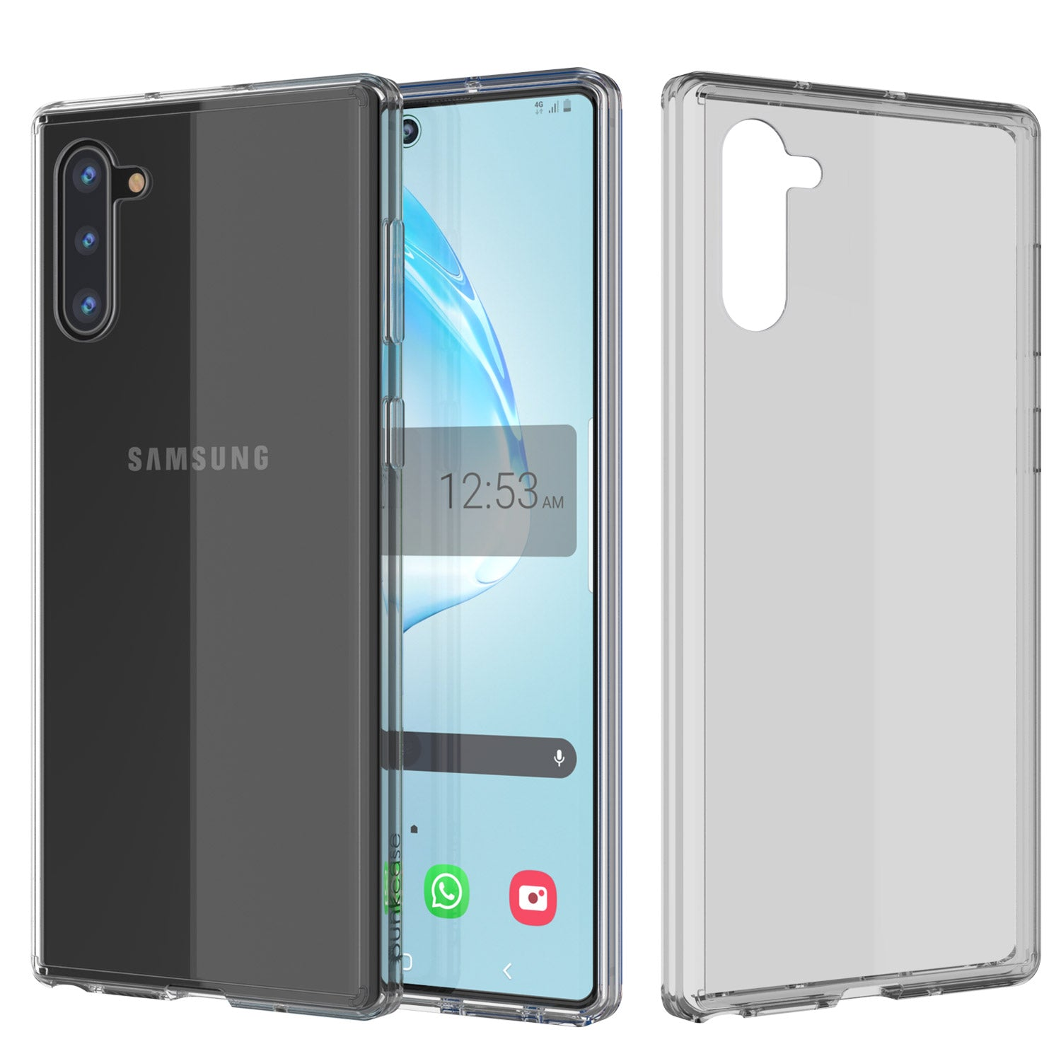 Galaxy Note 10 Punkcase Lucid-2.0 Series Slim Fit Armor Clear Case Cover