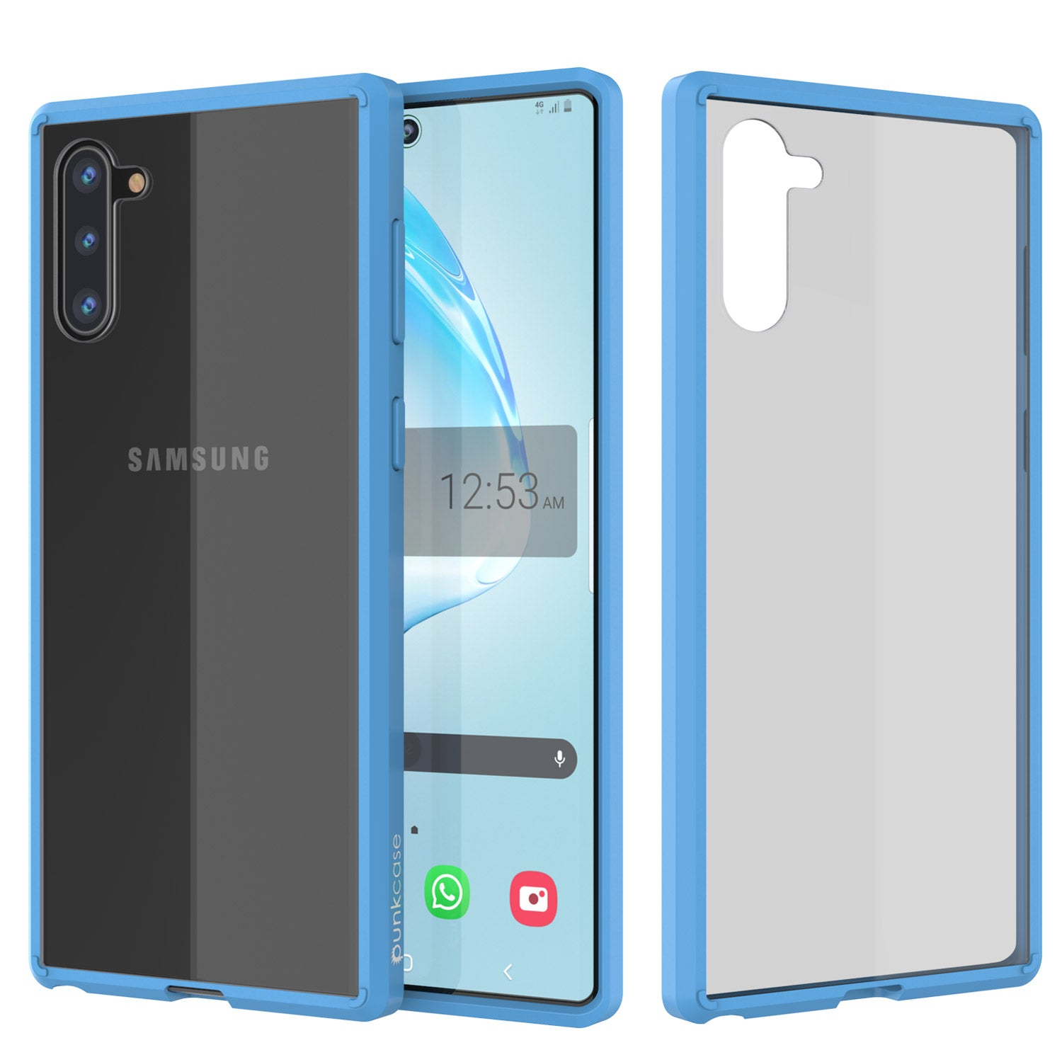 Galaxy Note 10 Punkcase Lucid-2.0 Series Slim Fit Armor Light Blue Case Cover