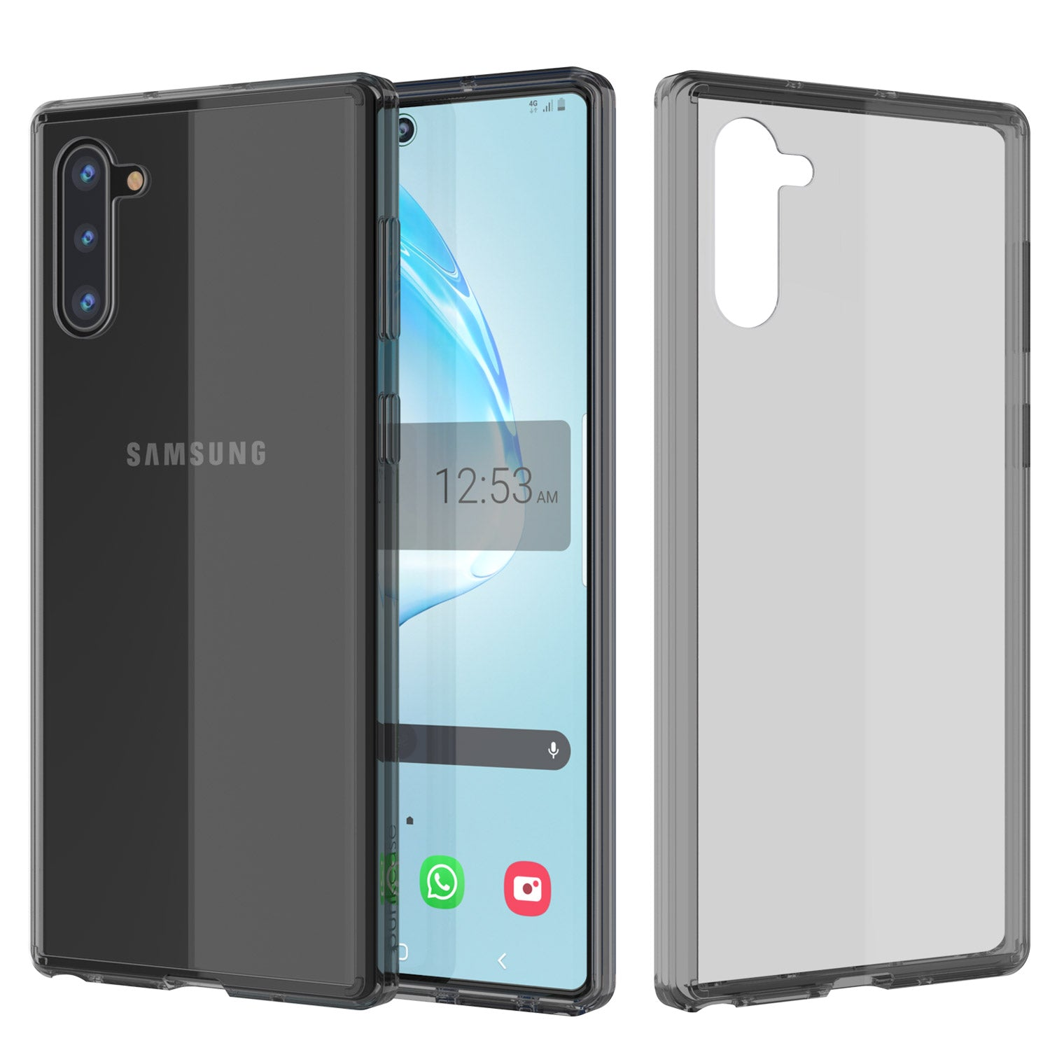 Galaxy Note 10 Punkcase Lucid-2.0 Series Slim Fit Armor Crystal Black Case Cover
