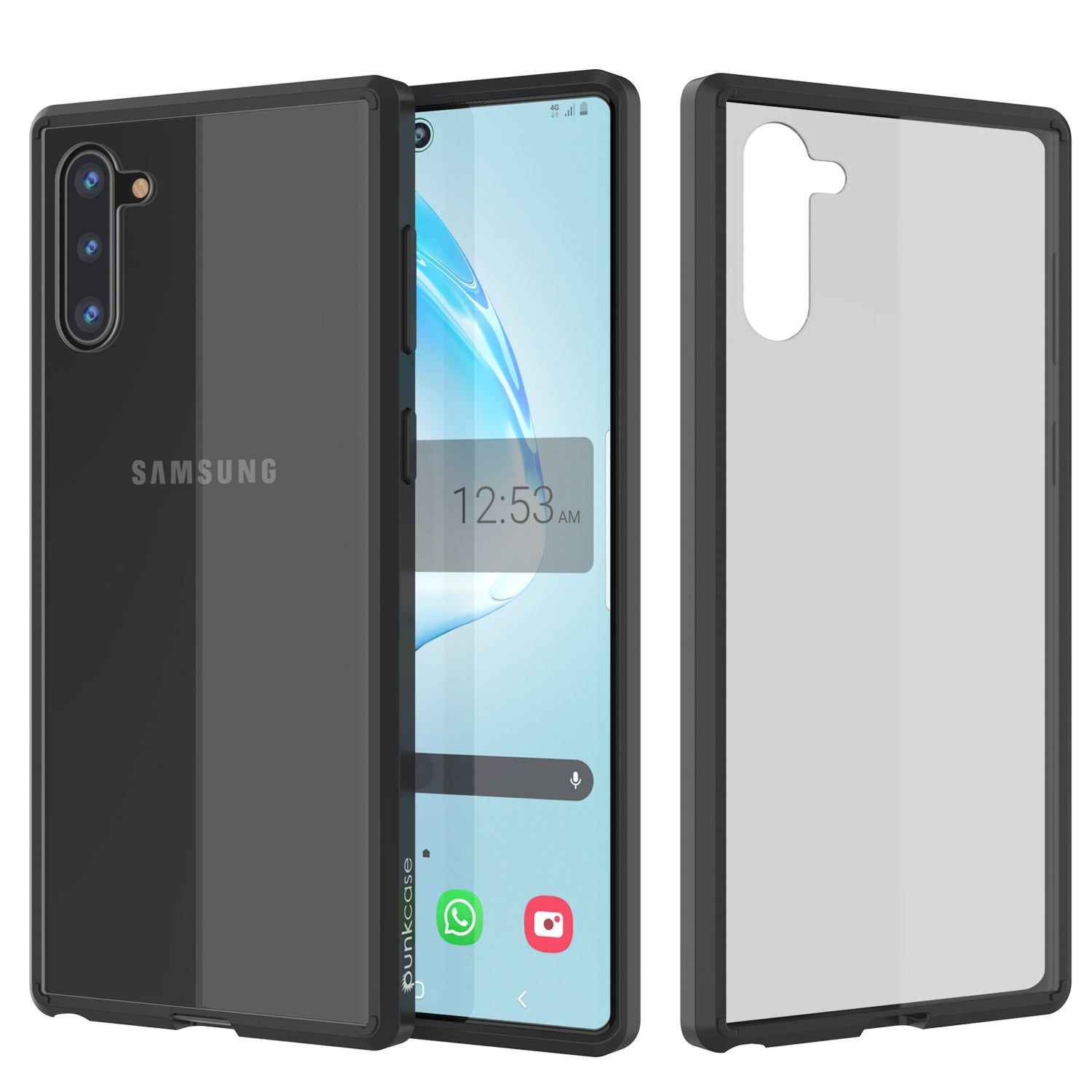 Galaxy Note 10 Punkcase Lucid-2.0 Series Slim Fit Armor Black Case Cover