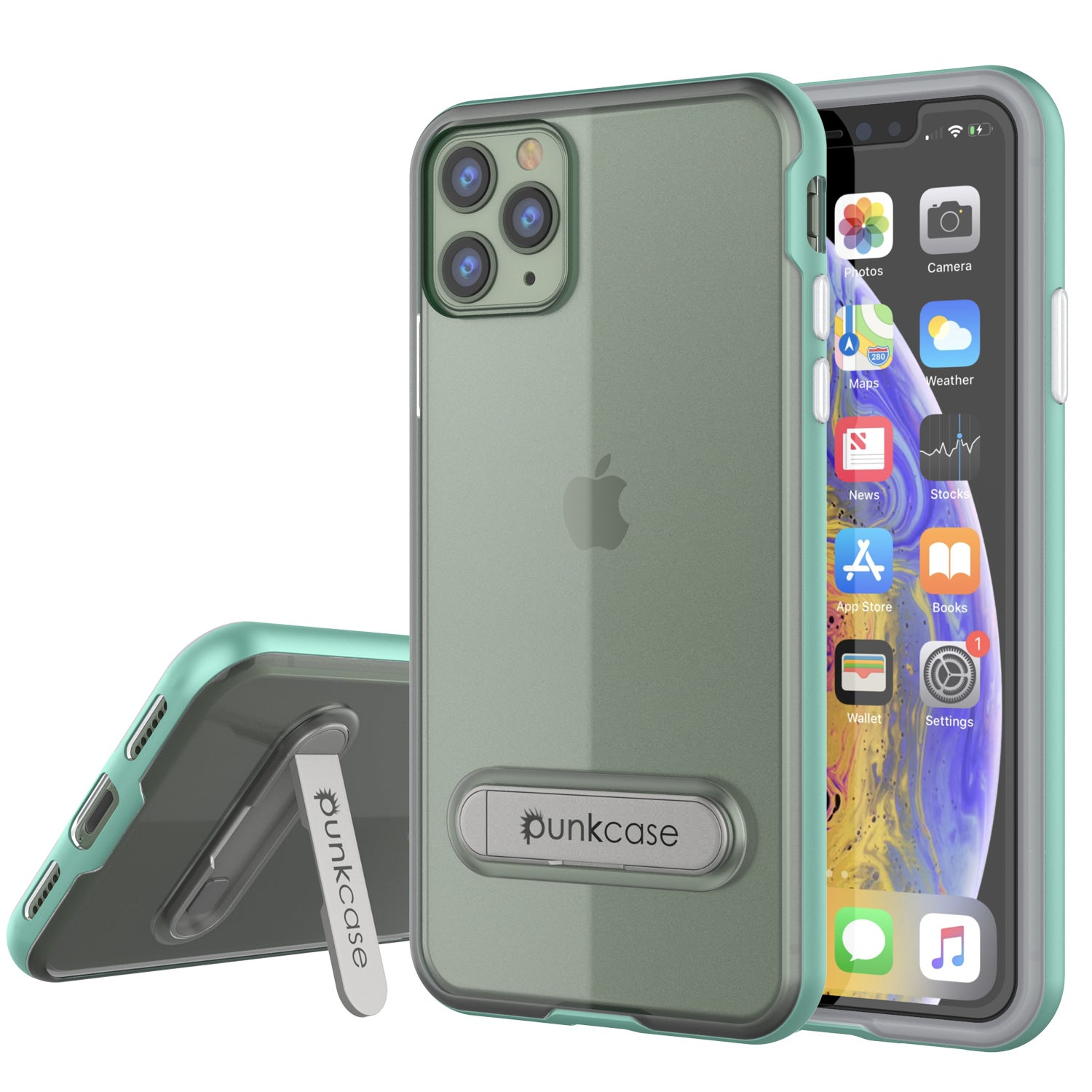 iPhone 11 Pro Case, PUNKcase [LUCID 3.0 Series] [Slim Fit] Armor Cover w/ Integrated Screen Protector [Teal]
