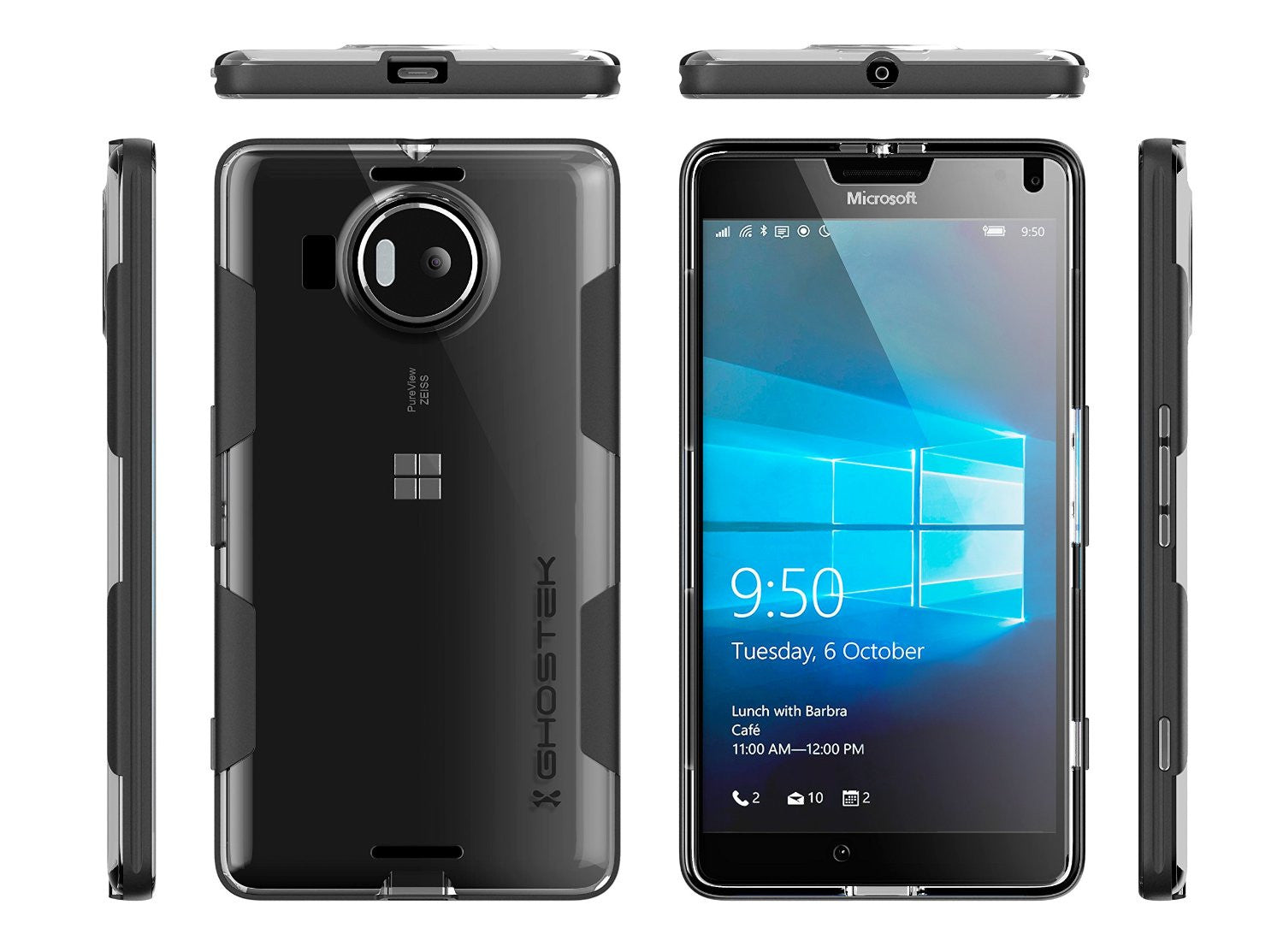 Ghostek Cloak Black Series for Nokia Lumia 950
