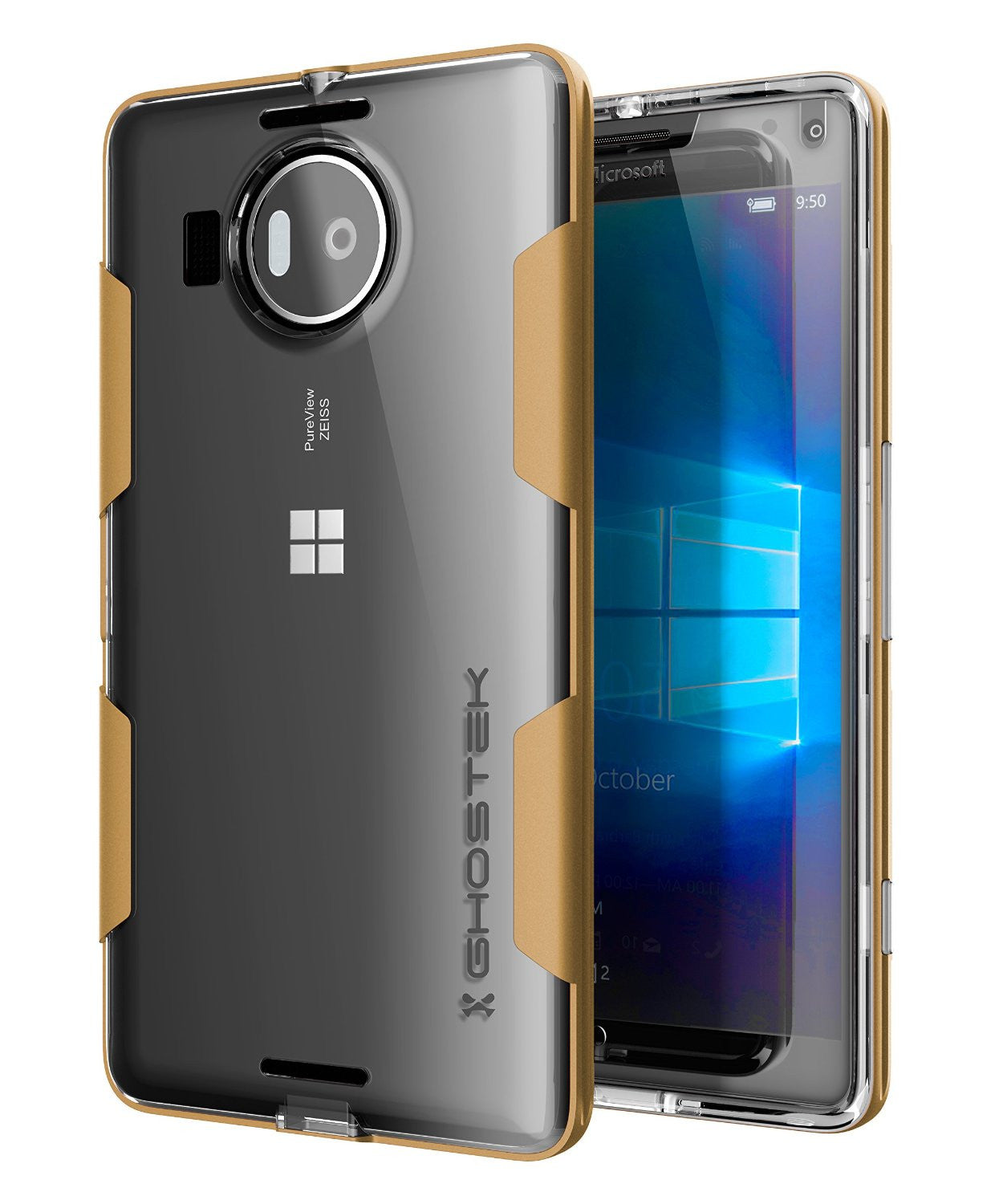 Microsoft Lumia 950 Case, Ghostek® Cloak Gold Slim Hybrid Impact Armor | Lifetime Warranty Exchange