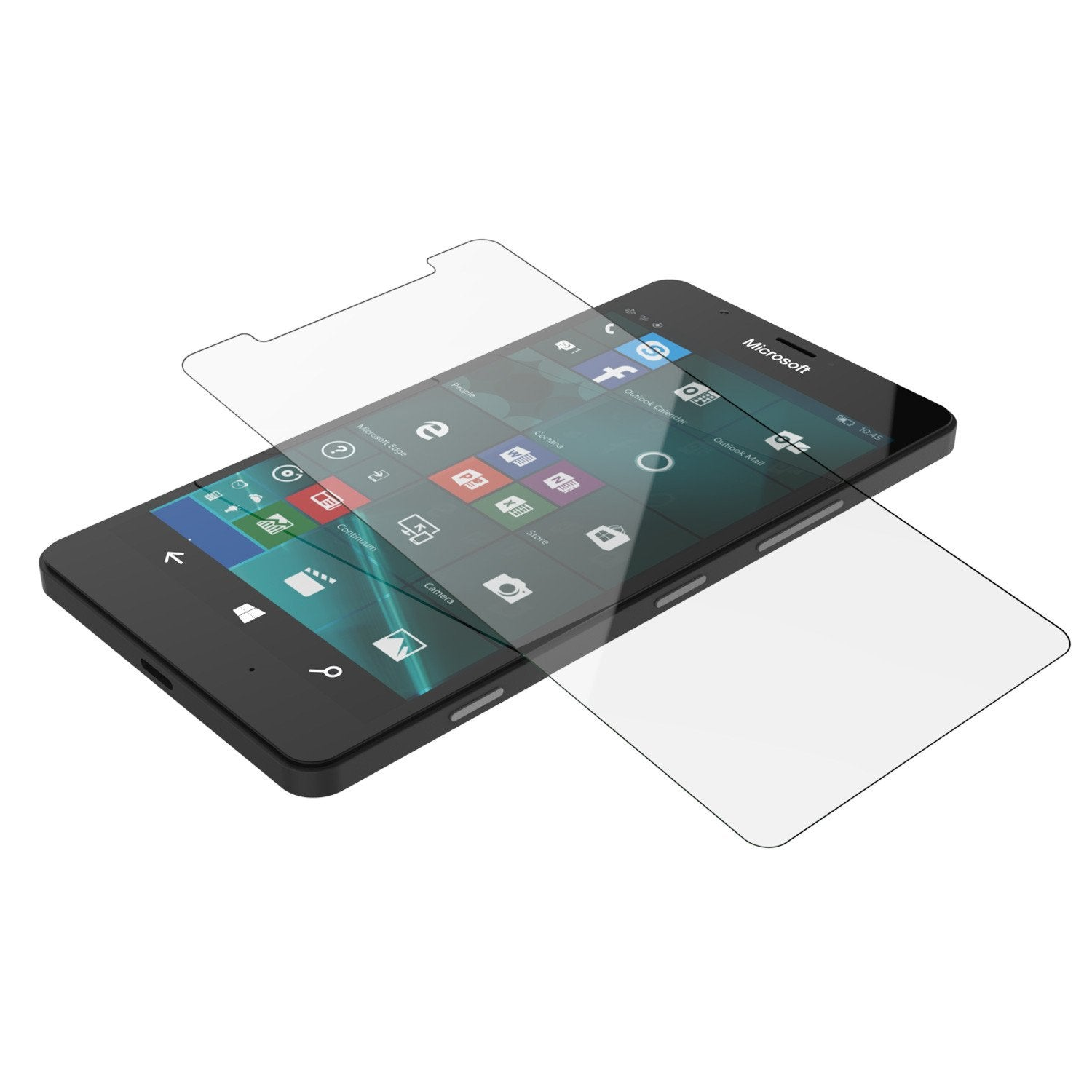 Microsoft Lumia 950 Screen Protector, Punkcase SHIELD Tempered Glass Protector 0.33mm Thick 9H