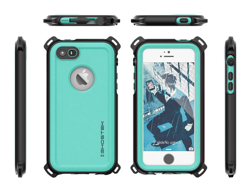 iPhone SE/5S/5 Waterproof Case Ghostek Nautical Teal Series| Underwater | Aluminum Frame | Ultra Fit