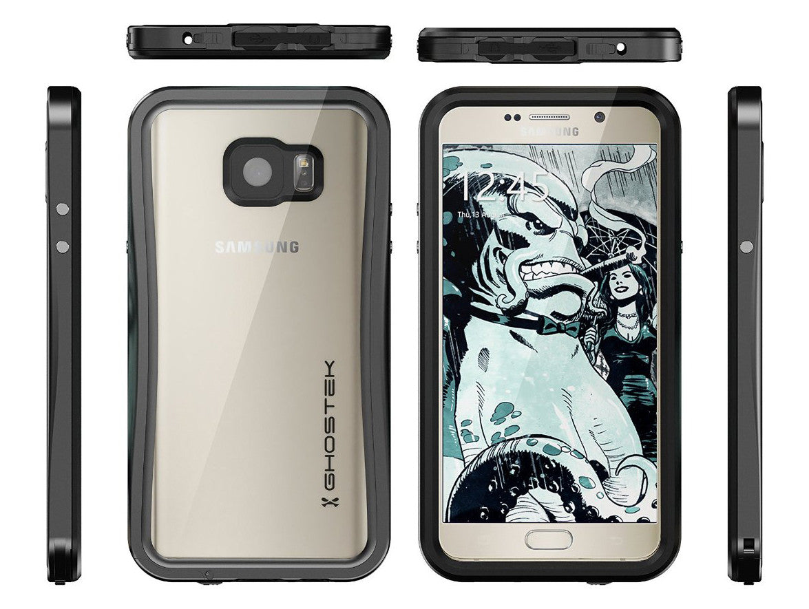 Note 5 Waterproof Case, Ghostek® Atomic 2.0 Series Black for Samsung Galaxy Note 5 | Aluminum Frame