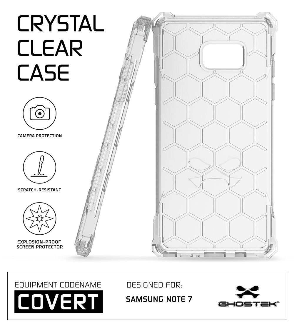 Note 7 Case, Ghostek® Covert Series Clear | Premium Impact Slim Hybrid Cover w/ Screen Protector