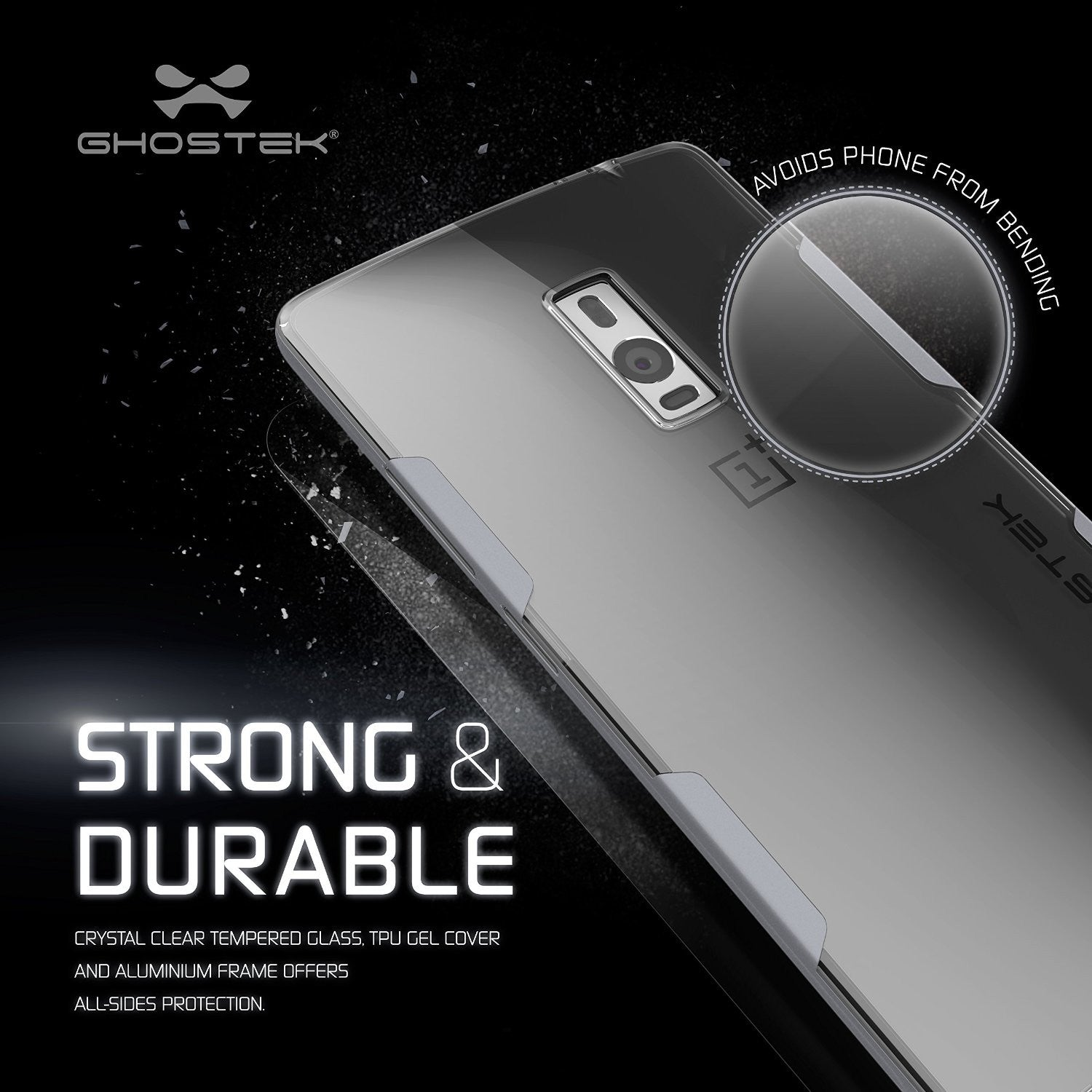 OnePlus 2 Case, Ghostek® Cloak Silver Series for OnePlus 2 Slim Hybrid | Lifetime Warranty Exchange