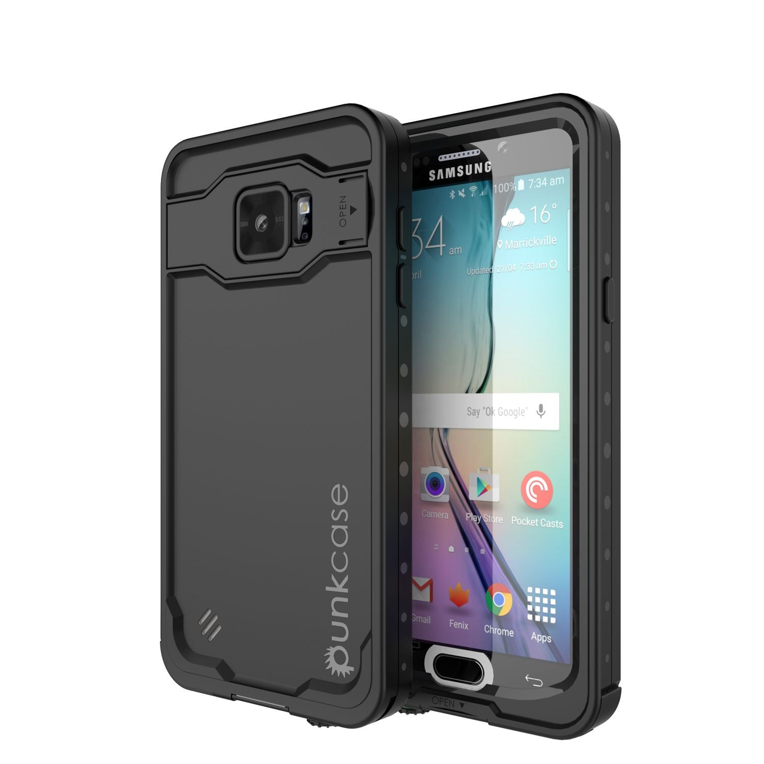 Galaxy Note 5 Waterproof Case, Punkcase StudStar Black Shock/Dirt/Snow Proof | Lifetime Warranty