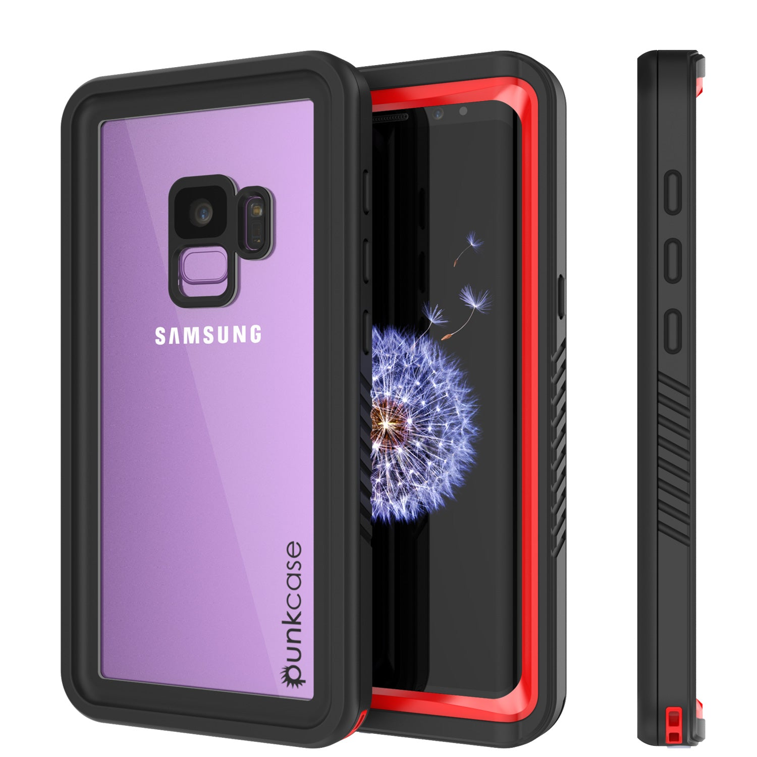 Galaxy S9 PLUS Waterproof Case, Punkcase [Extreme Series] [Slim Fit] Armor Cover [Red]