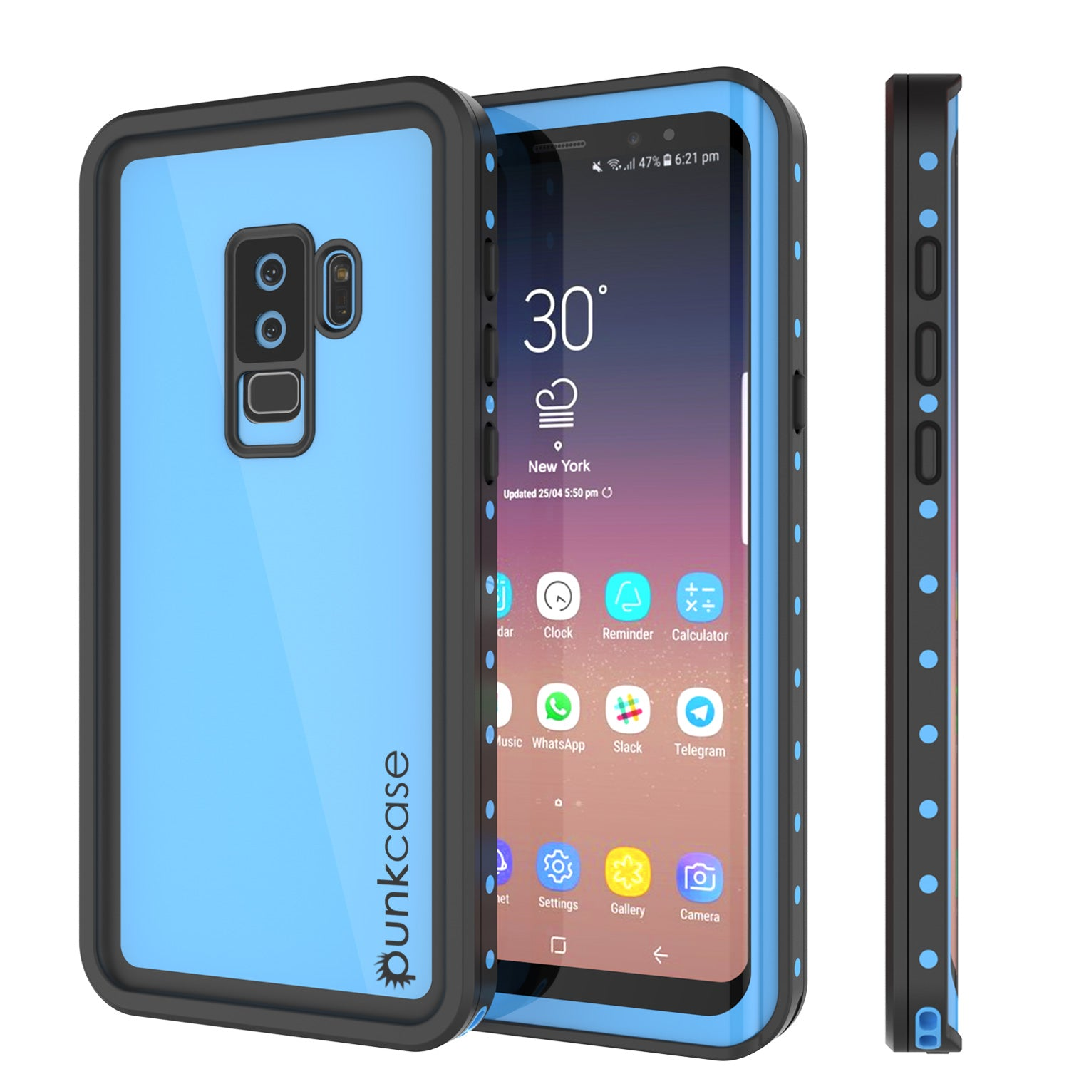 uk availability 2b337 27064 Galaxy S9 Plus Waterproof Case PunkCase StudStar Light Blue Thin 6.6ft  Underwater IP68 ShockProof