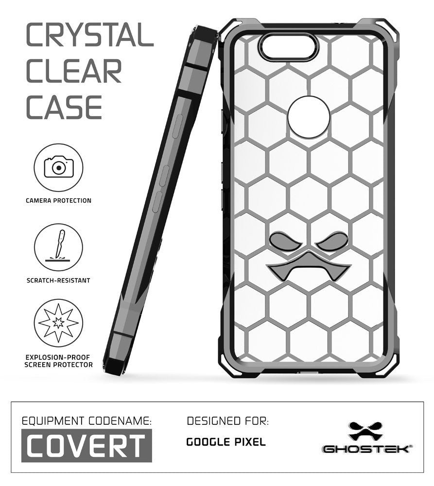Google Pixel XL Case, Ghostek® Covert Space Grey, Premium Impact Armor | Lifetime Warranty Exchange