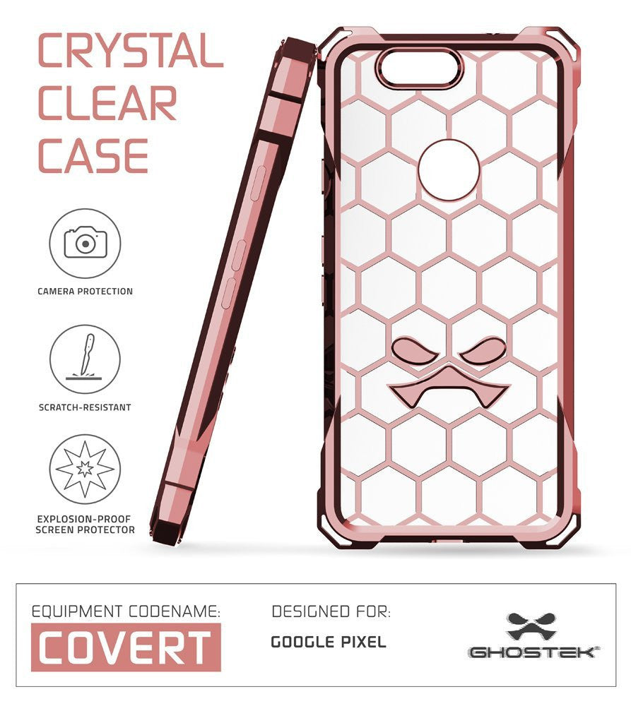 Google Pixel XL Case, Ghostek® Covert Peach, Premium Impact Protective Armor | Lifetime Warranty Exchange