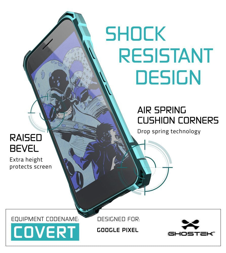 Google Pixel XL Case, Ghostek® Covert Teal, Premium Impact Protective Armor | Lifetime Warranty Exchange