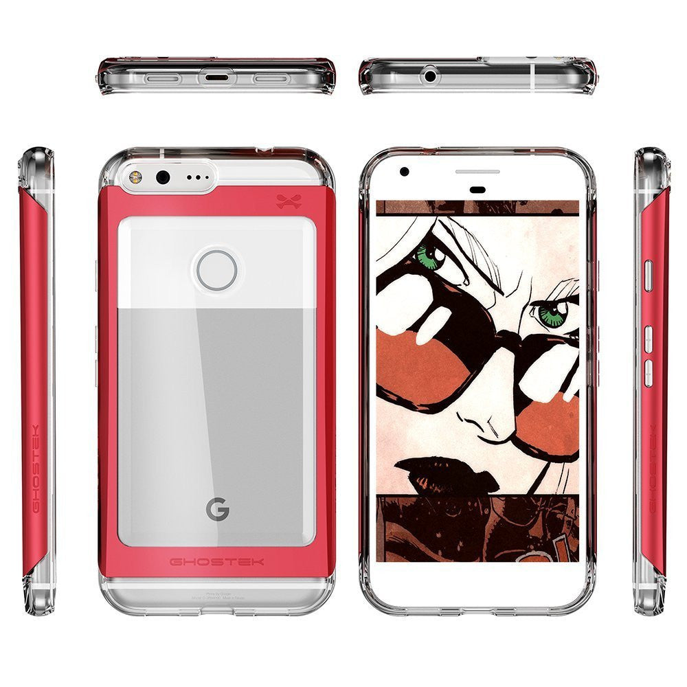 Google Pixel XL Case, Ghostek® 2.0 Red Series w/ Explosion-Proof Screen Protector | Aluminum Frame