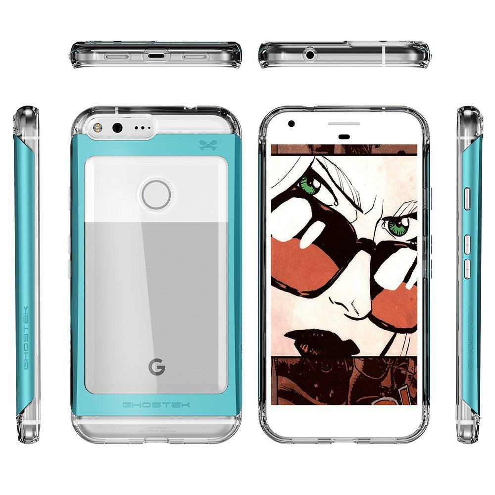 Google Pixel Case, Ghostek® 2.0 Teal Series w/ Explosion-Proof Screen Protector | Aluminum Frame