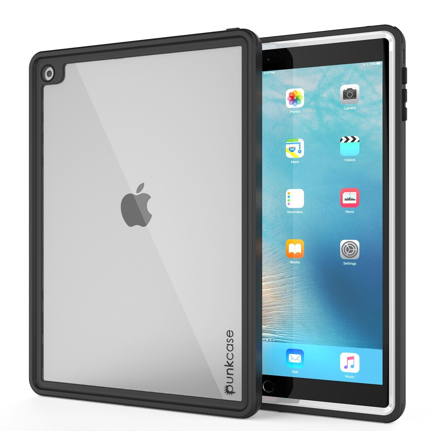 Punkcase iPad Pro 9.7 Case [CRYSTAL Series], Waterproof, Ultra-Thin Cover [Shockproof] [Dustproof] with Built-in Screen Protector [White]