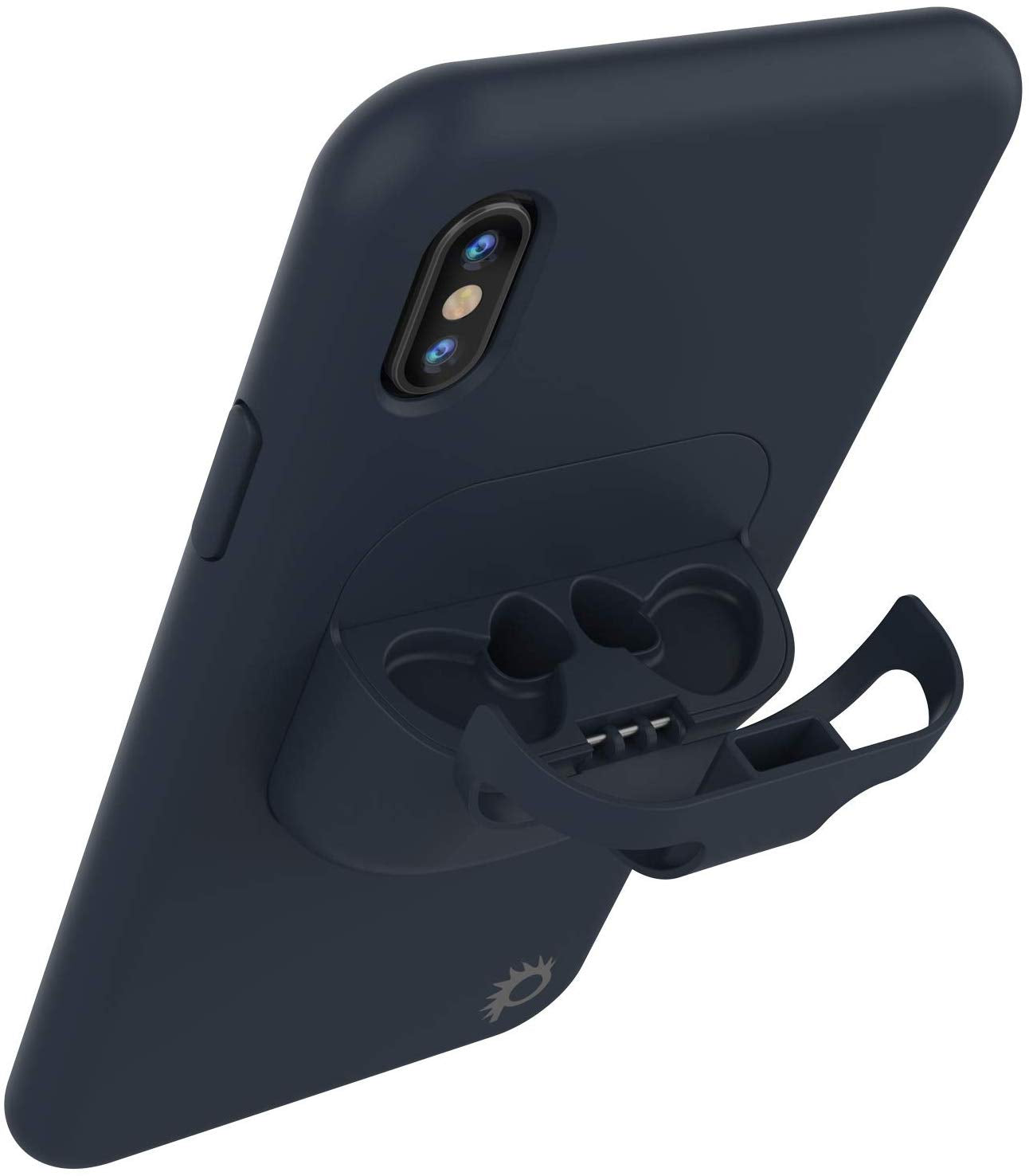 "Punkcase iPhone XS Max Airpods Case Holder (CenterPods Series) | Slim & Durable 2 in 1 Cover Designed for iPhone XS Max (6.1"") 