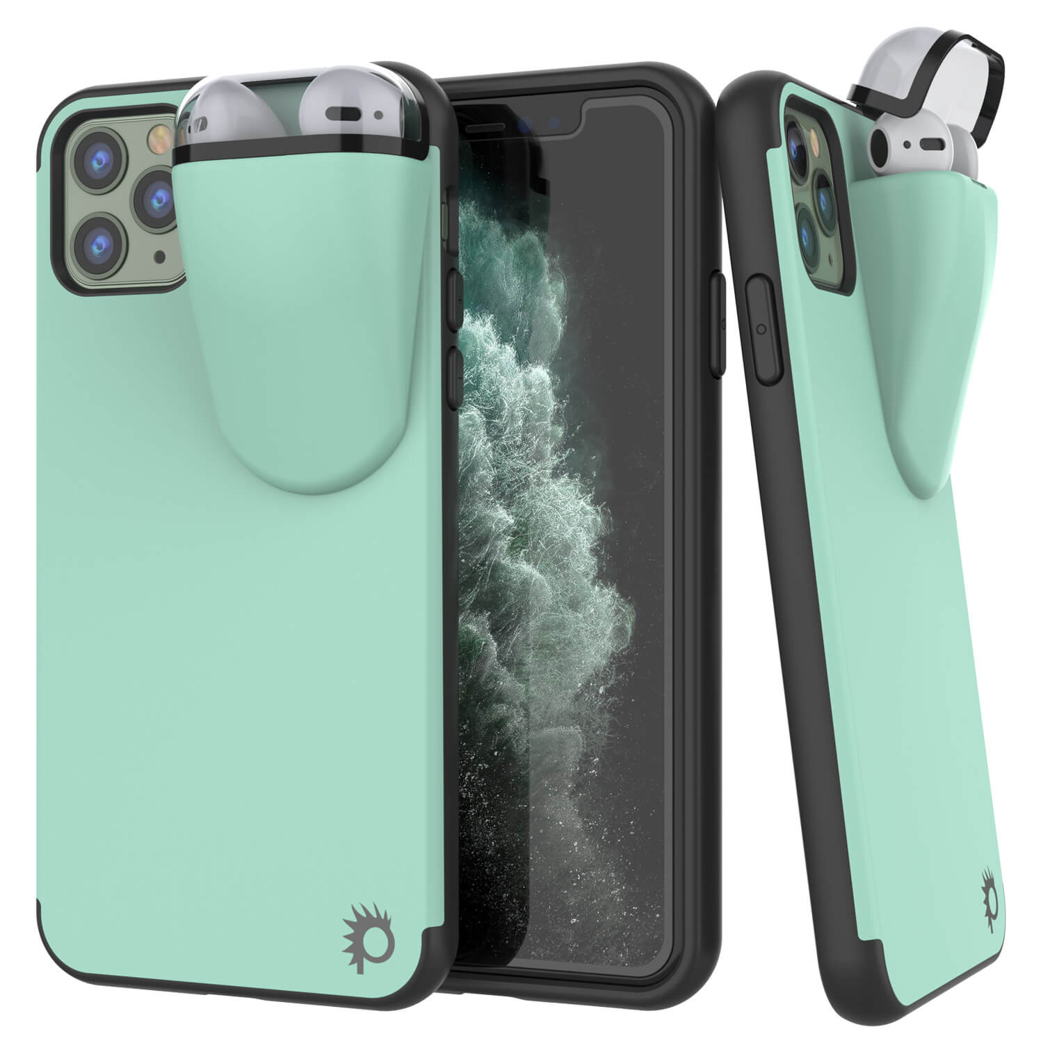 "Punkcase iPhone 11 Pro Airpods Case Holder (TopPods Series) | Slim & Durable 2 in 1 Cover Designed for iPhone 11 Pro (6.1"") 