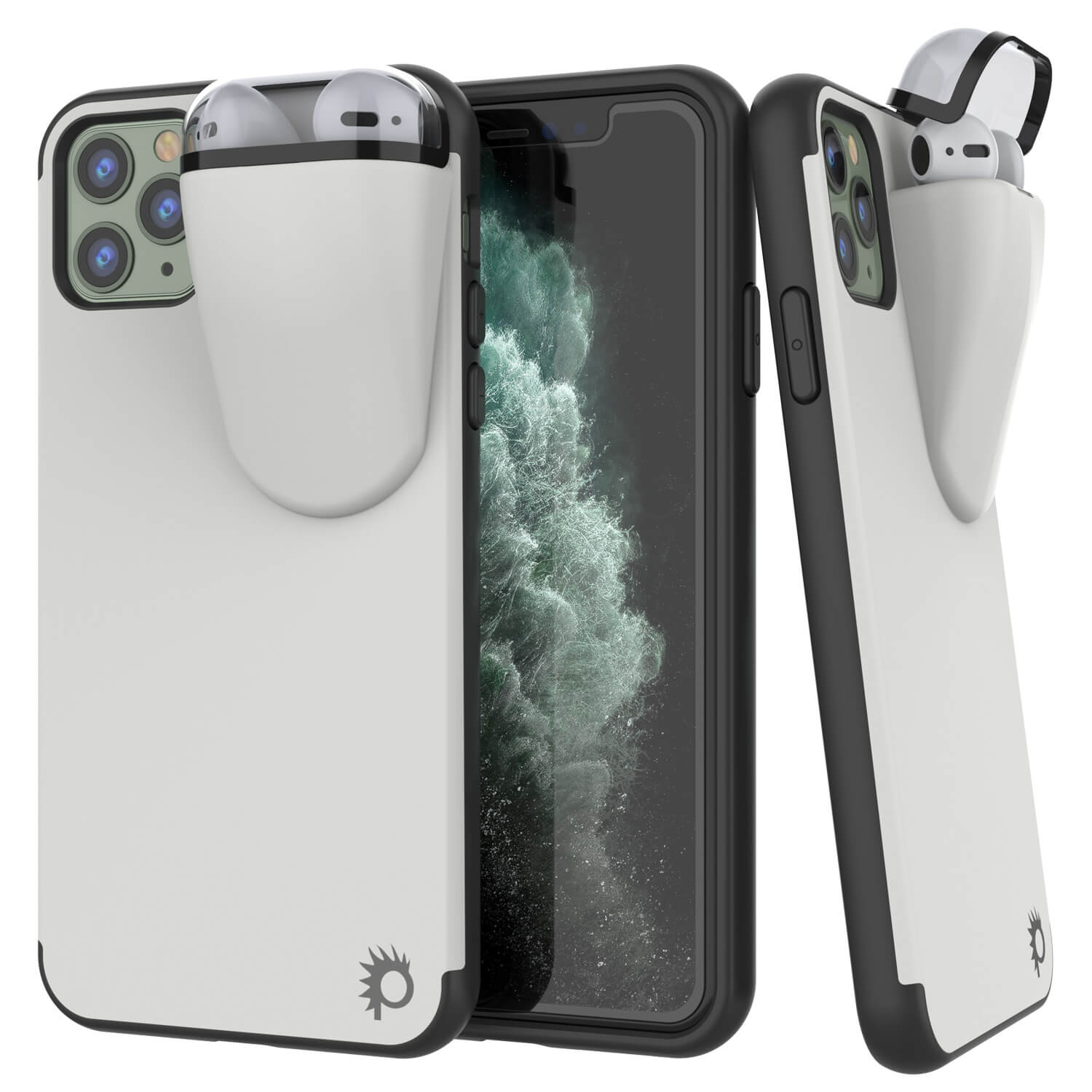 "Punkcase iPhone 11 Pro Max Airpods Case Holder (TopPods Series) | Slim & Durable 2 in 1 Cover Designed for iPhone 11 Pro Max (6.1"") 