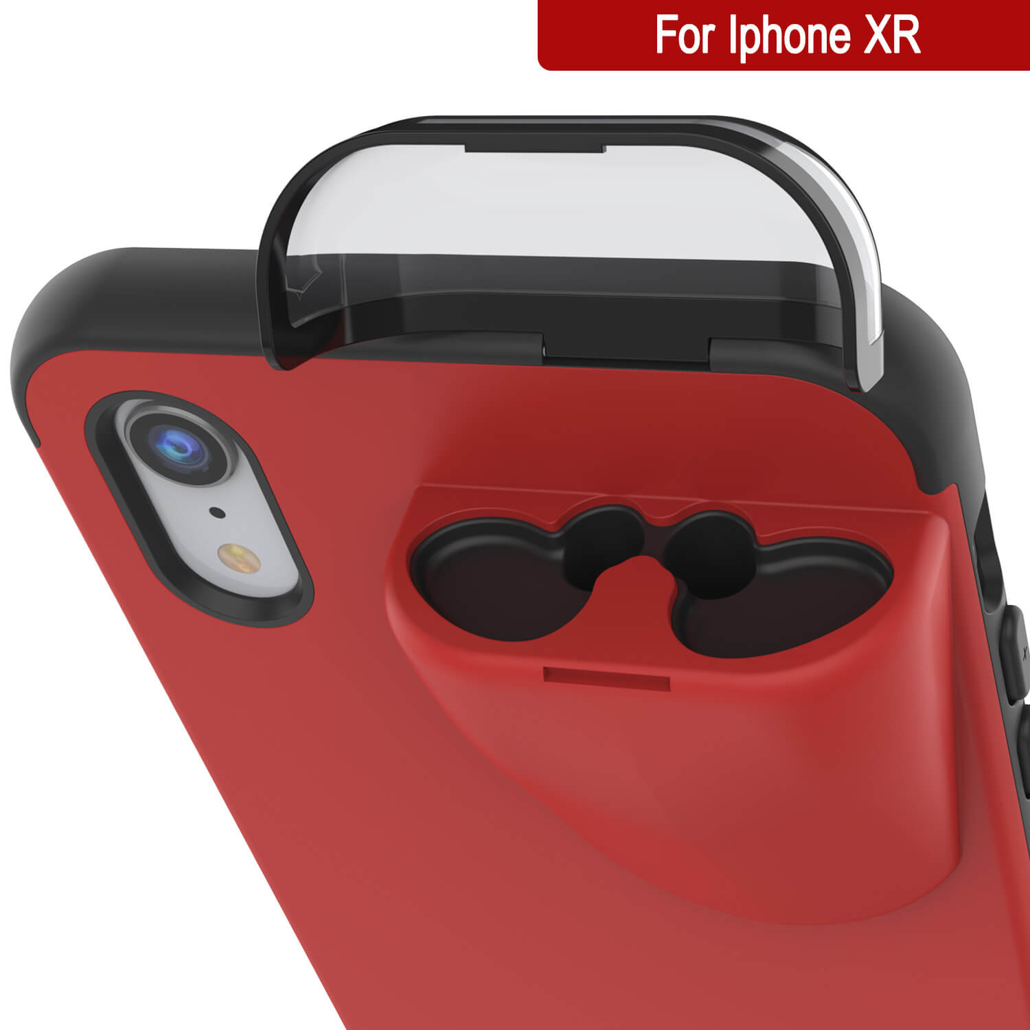 "Punkcase iPhone XR Airpods Case Holder (TopPods Series) | Slim & Durable 2 in 1 Cover Designed for iPhone XR (6.1"") 