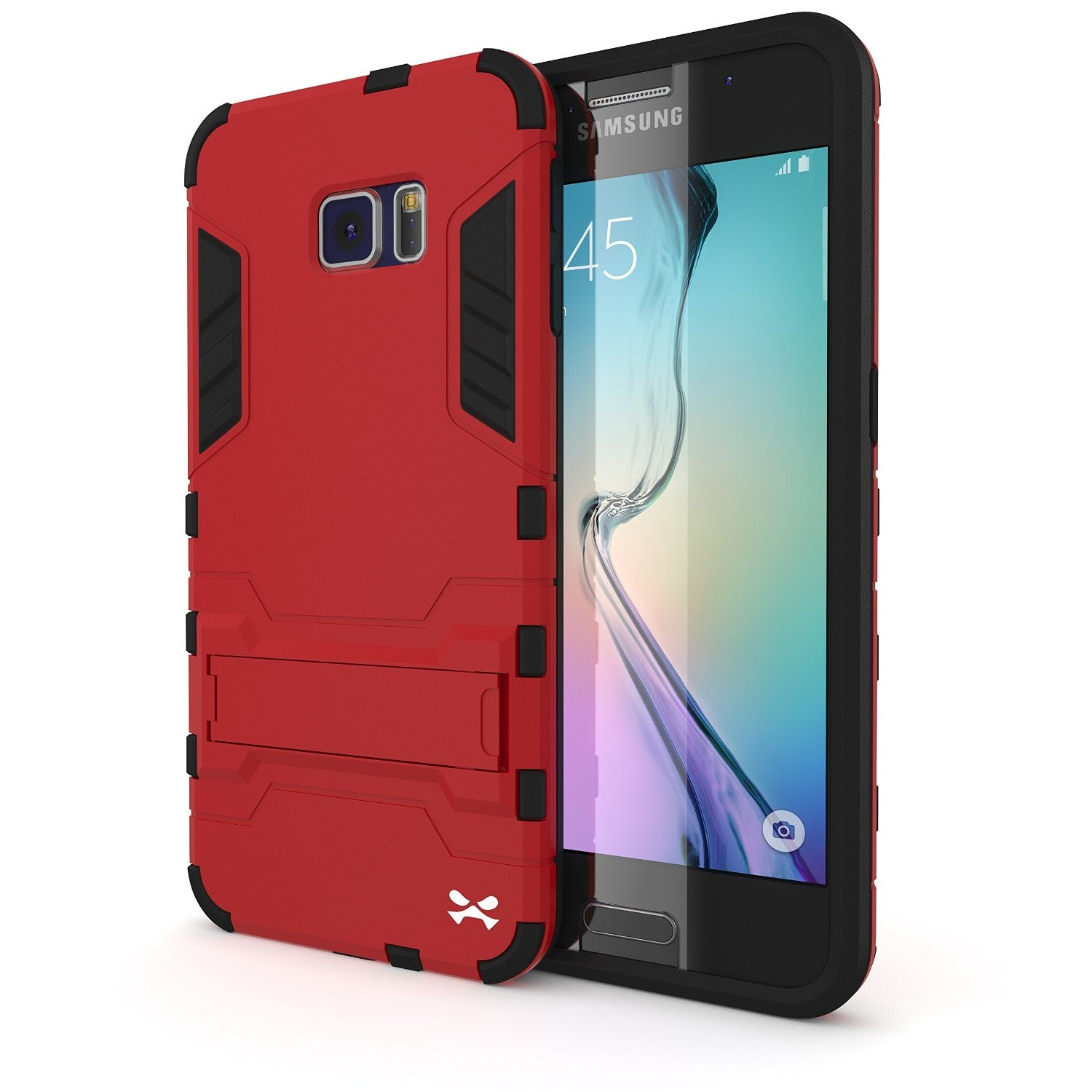 S6 Case, Ghostek Armadillo - Red Samsung Galaxy S6 Case w/ Tempered Glass Screen Protector