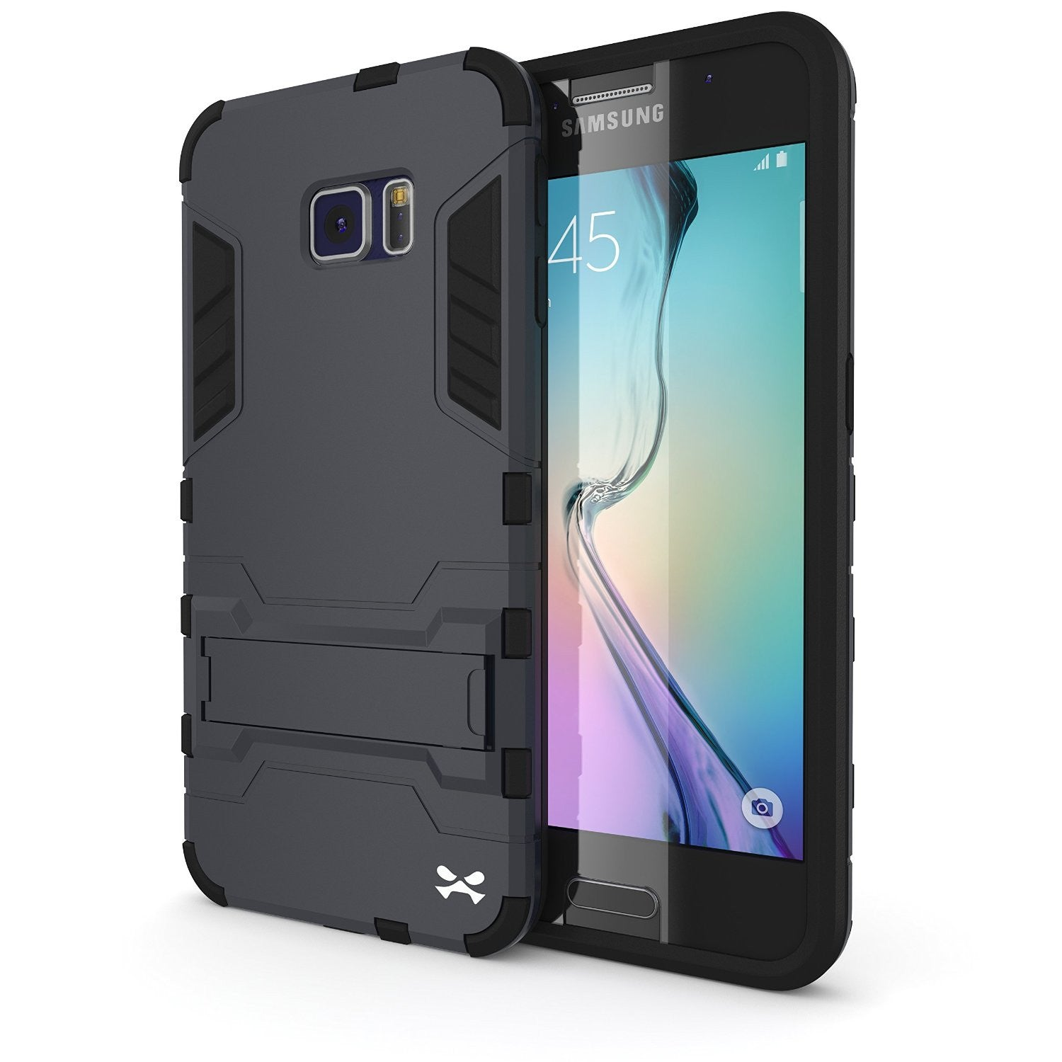 S6 Case, Ghostek Armadillo Dark Navy Samsung Galaxy S6 Case w/ Tempered Glass Screen Protector