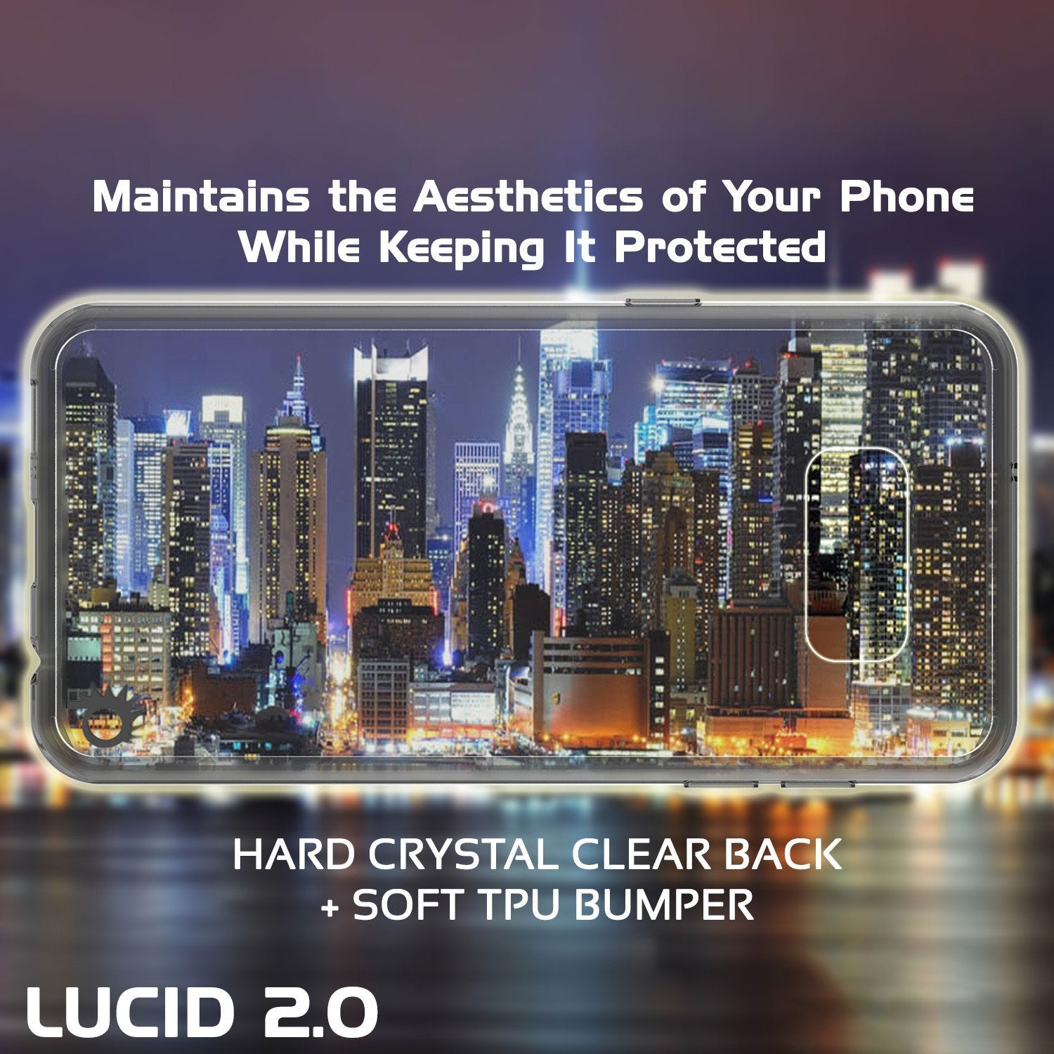 S8 Case Punkcase® LUCID 2.0 Crystal Black Series w/ PUNK SHIELD Screen Protector | Ultra Fit