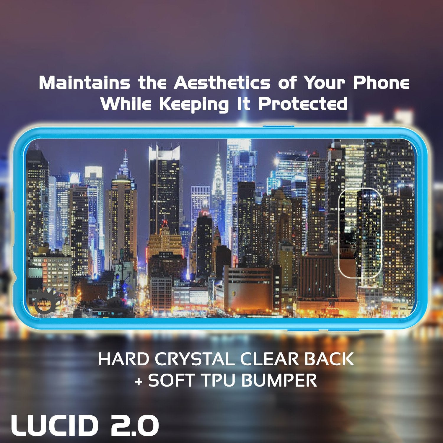 S8 Case Punkcase® LUCID 2.0 Light Blue Series w/ PUNK SHIELD Screen Protector | Ultra Fit