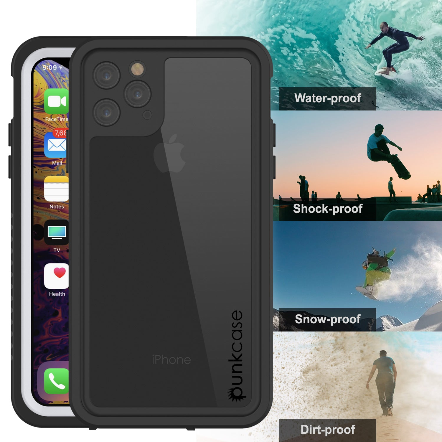 iPhone 11 Pro Max Waterproof Case, Punkcase [Extreme Series] Armor Cov
