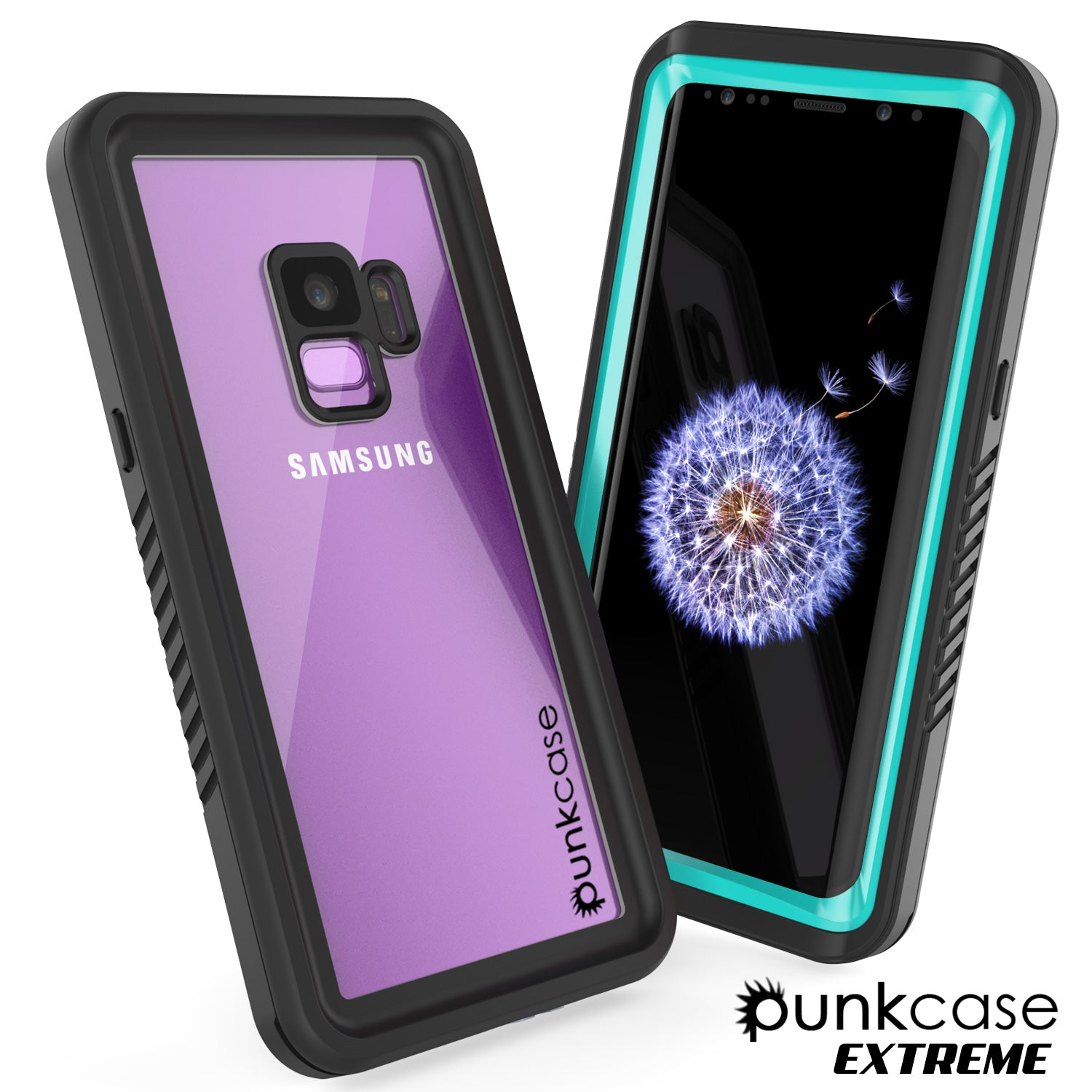 Galaxy S9 Waterproof Case, Punkcase [Extreme Series] [Slim Fit] Armor Cover [Teal]