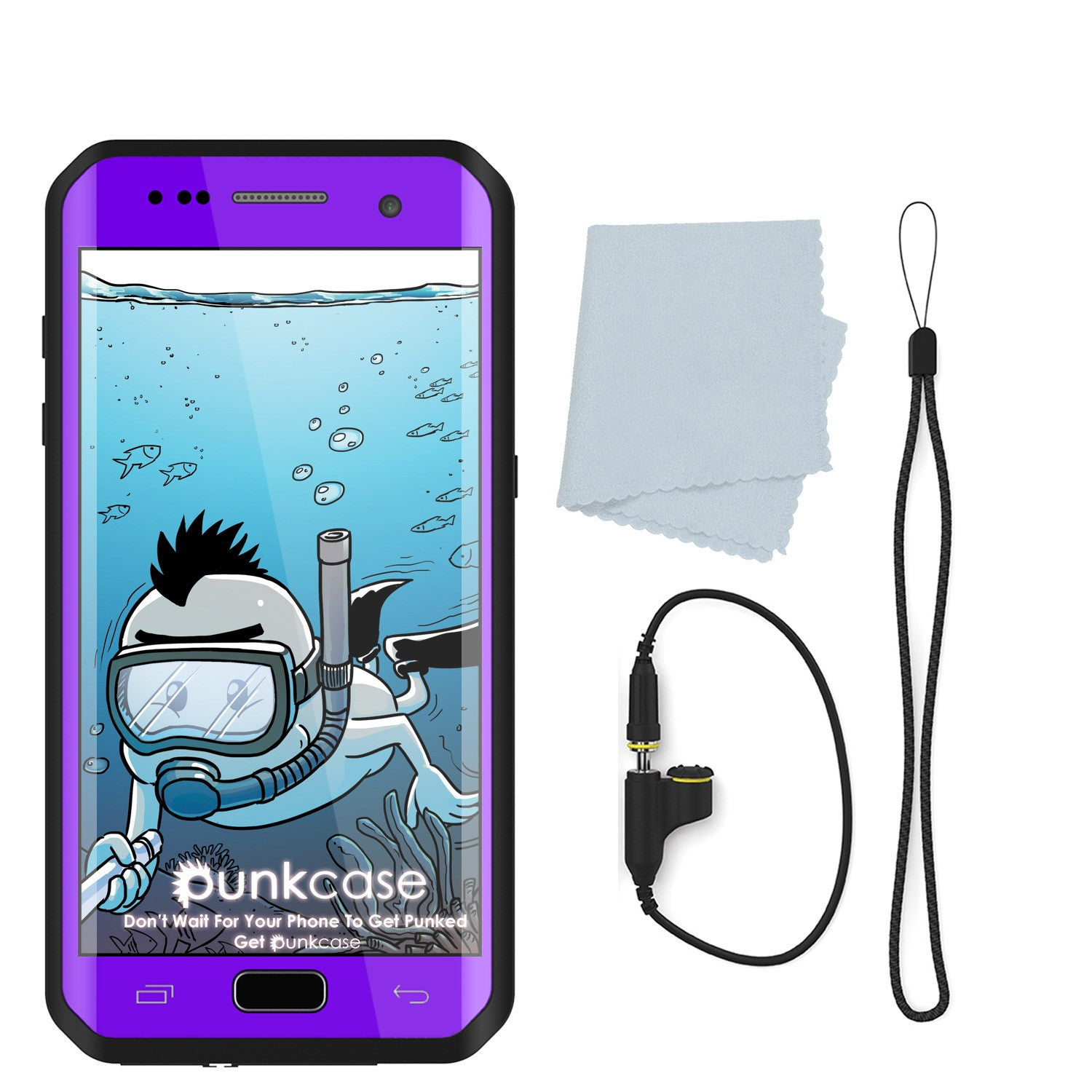 Galaxy S7 EDGE Waterproof Case PunkCase StudStar Purple Thin 6.6ft Underwater IP68 Shock/Snow Proof