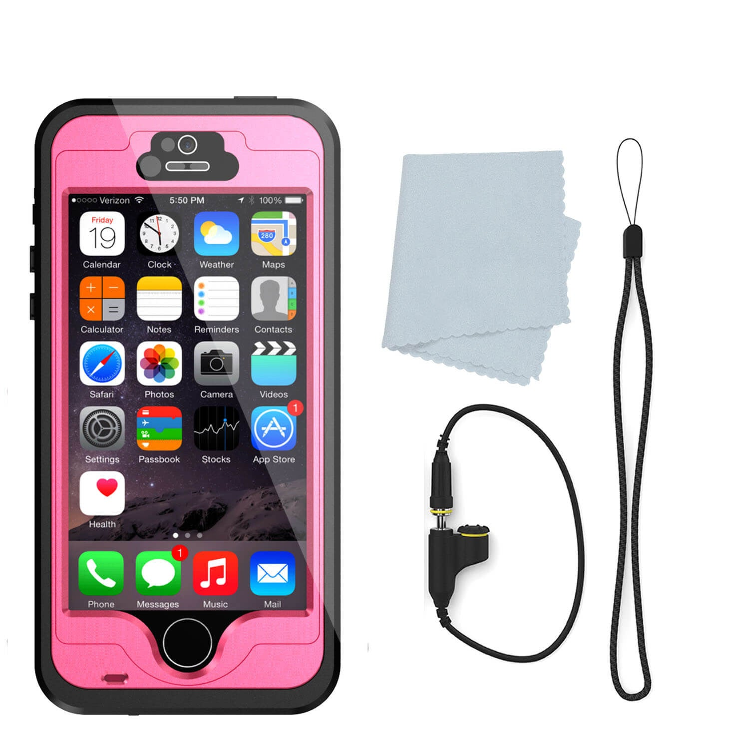 iphone 5s waterproof case punkcase studstar pink apple iphone 5s 5 waterproof 2224