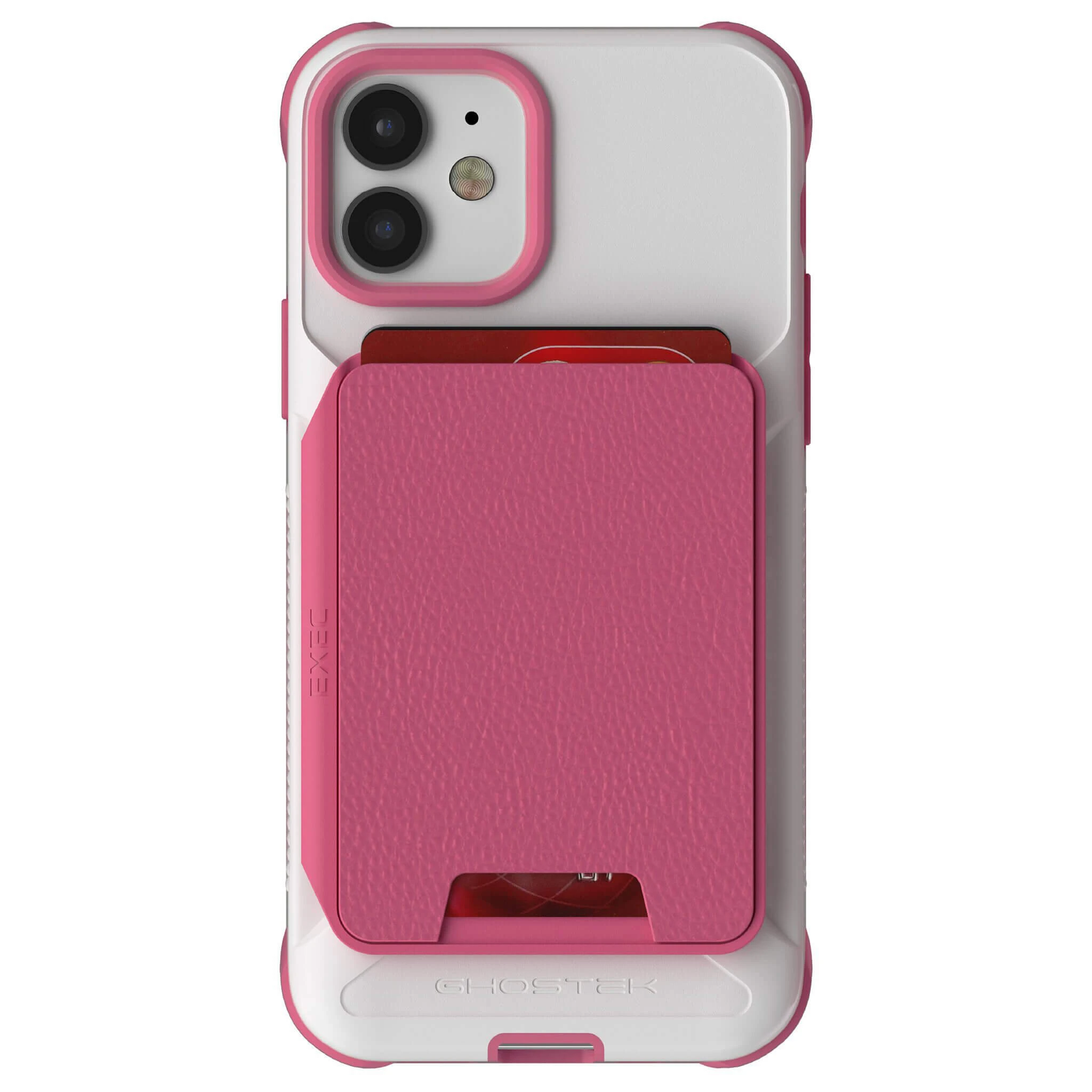 iPhone 12  - Magnetic Wallet Case with Card Holder [Pink]