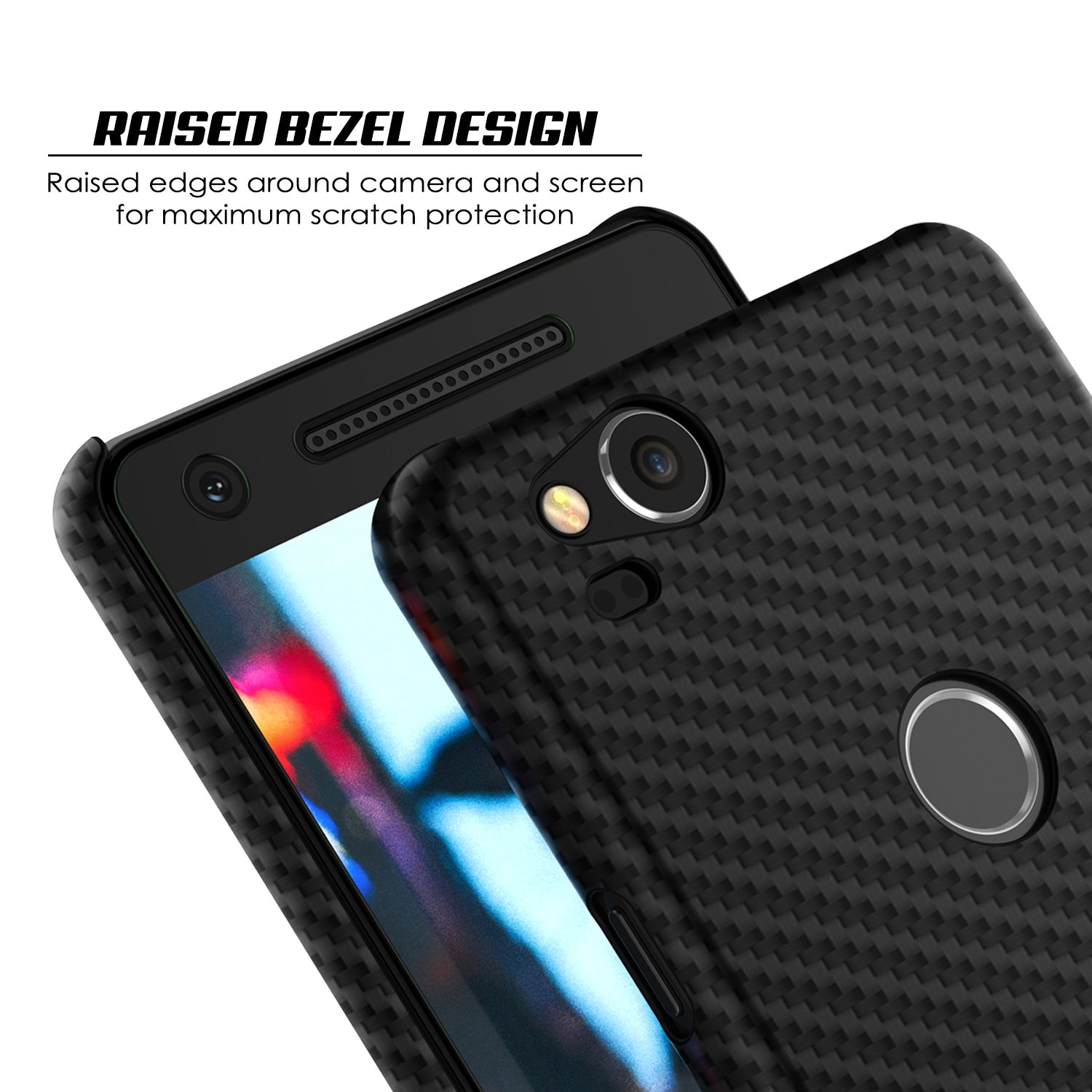 finest selection 19e5d 57132 Google Pixel 2 CarbonShield Heavy Duty & Ultra Thin 2 Leather Cover