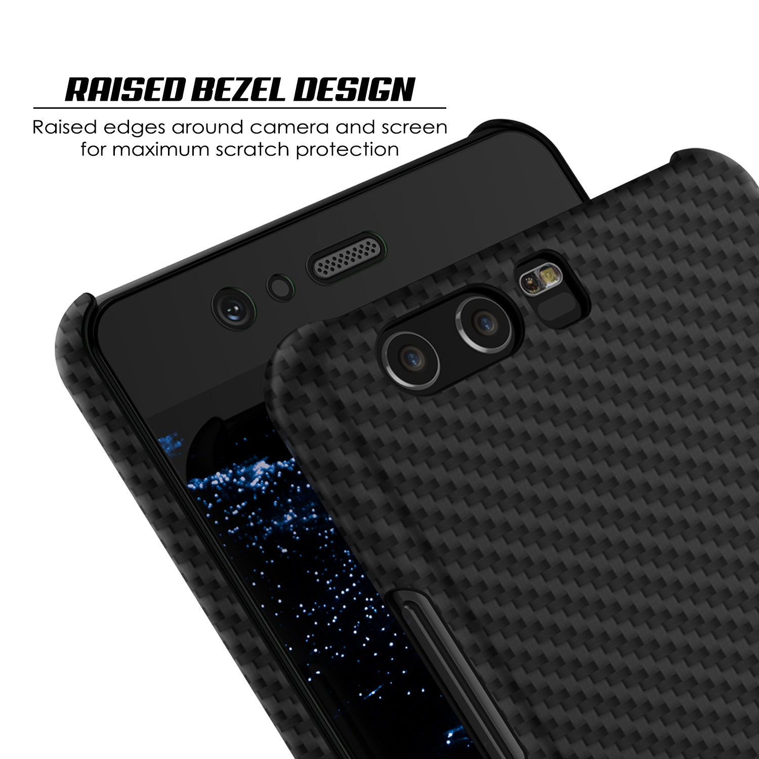 new concept 82706 a7a81 Huawei P10 Case, Punkcase CarbonShield, Heavy Duty [Jet Black] Cover