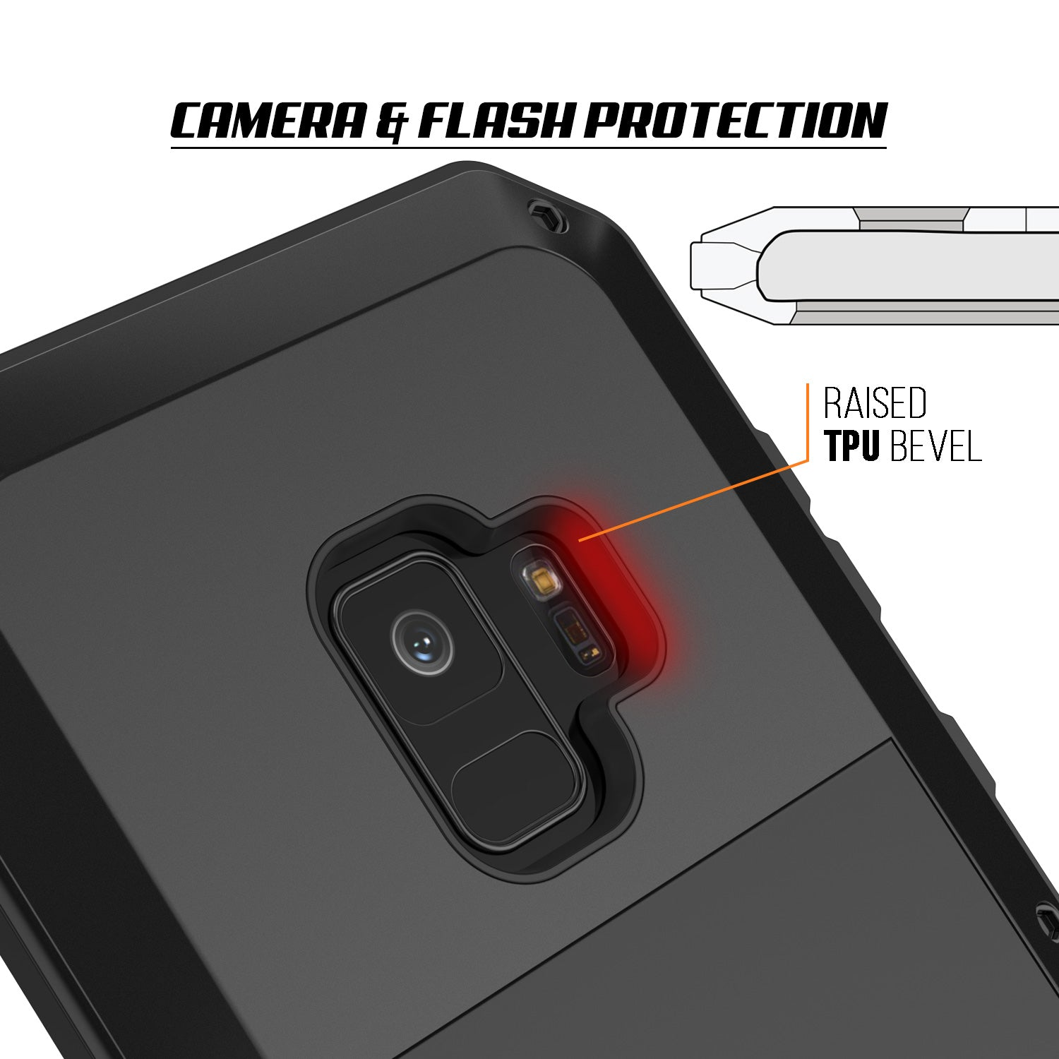 Galaxy S9 Metal Case, Heavy Duty Military Grade Rugged Armor Cover [Black]